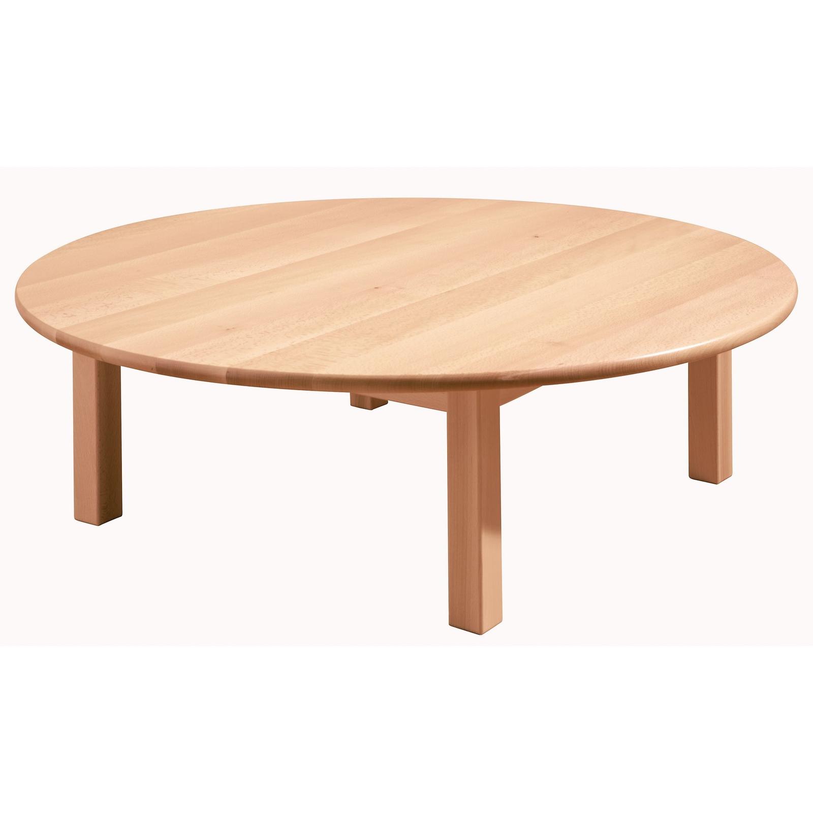 GALT Circular Solid Beech Classroom Table - 1200 x 400mm - Beech