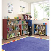Low Level Childrens Bookcase Beech