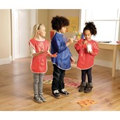 Sleeveless PVC Aprons Pack of 6 - 5-6 Years+