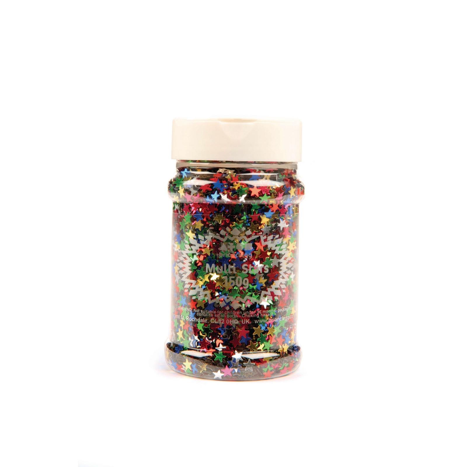 Glitter Shaker Multi-stars