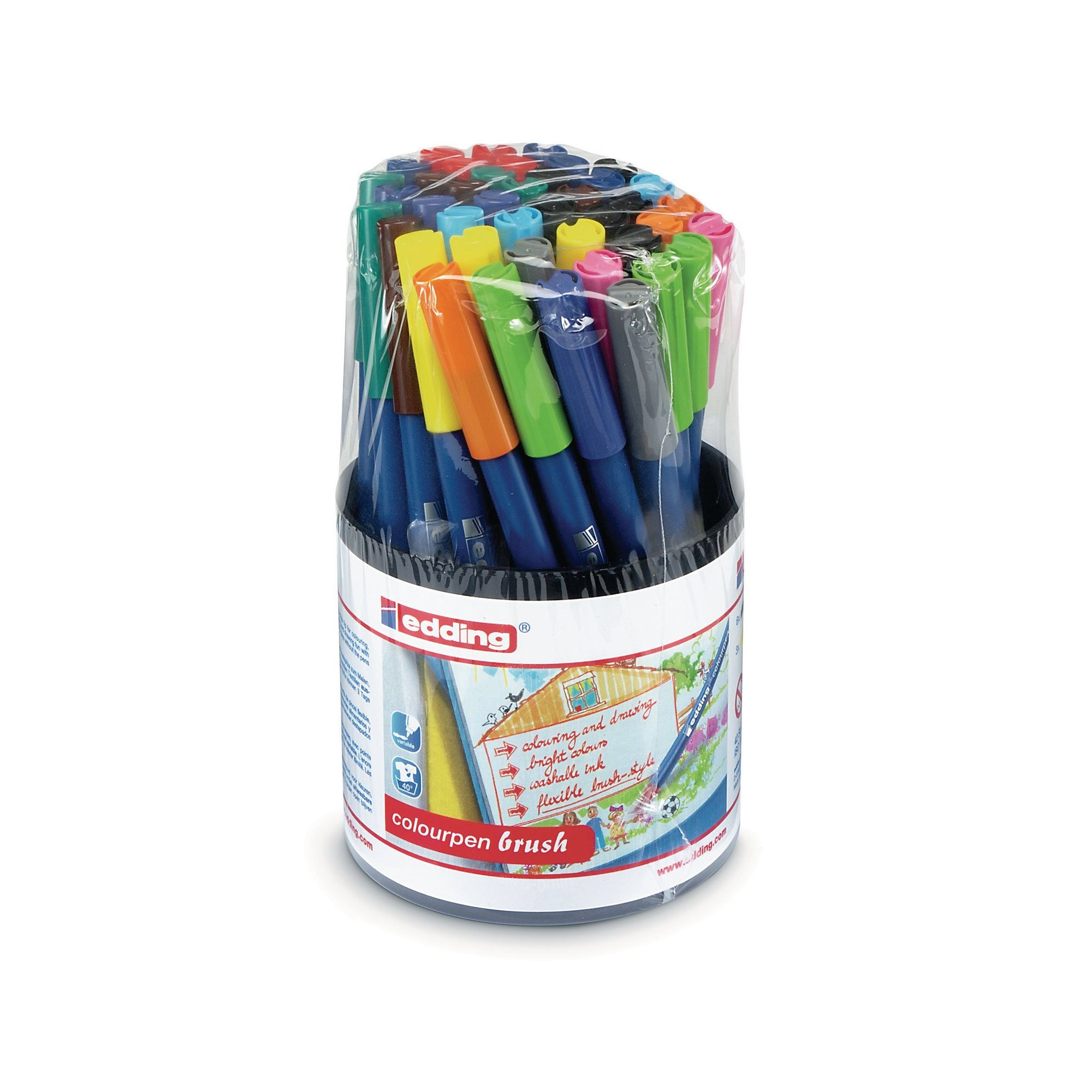 Edding Colour Pen Brush Pk42