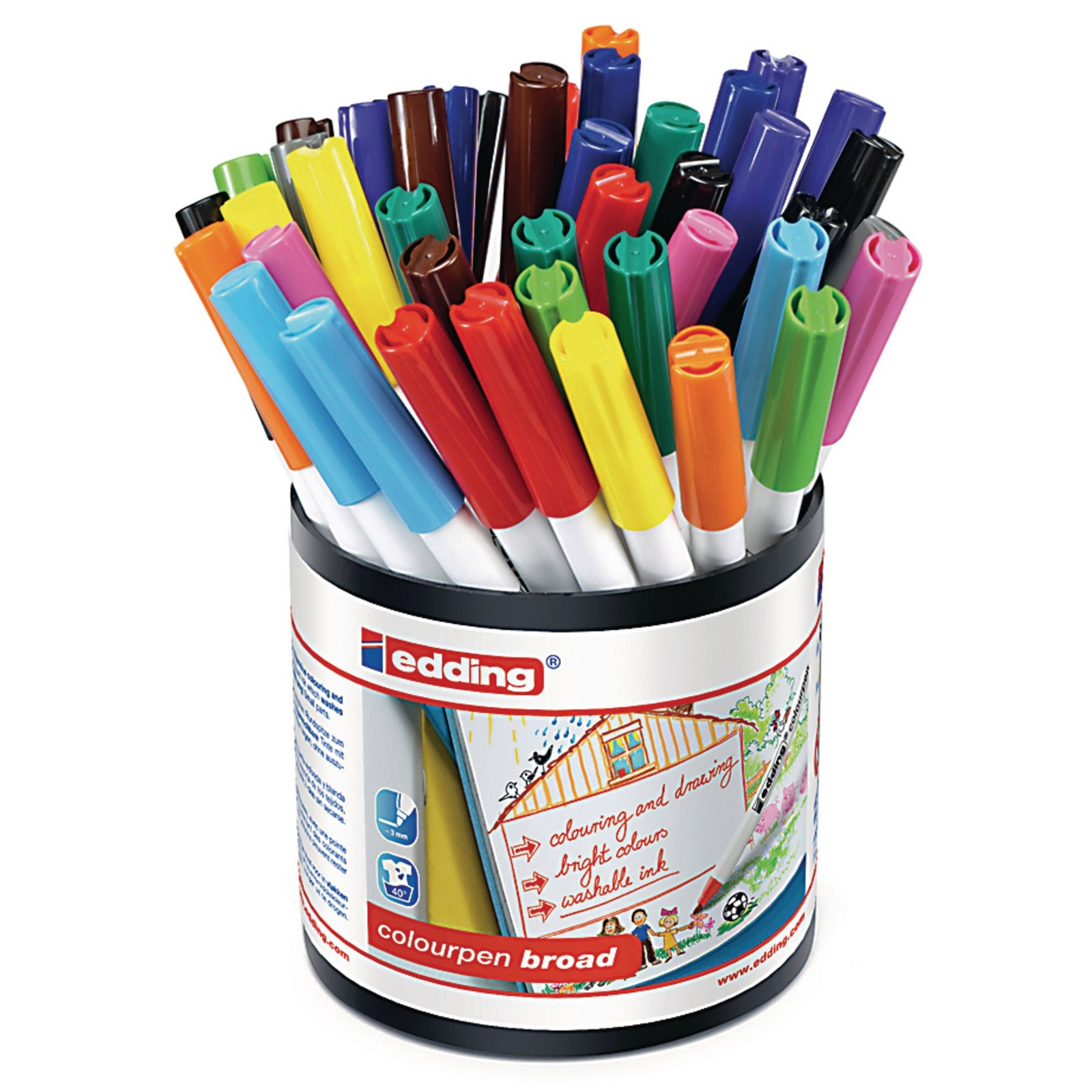 Edding Colourpen Broad - Assorted - Pack of 42