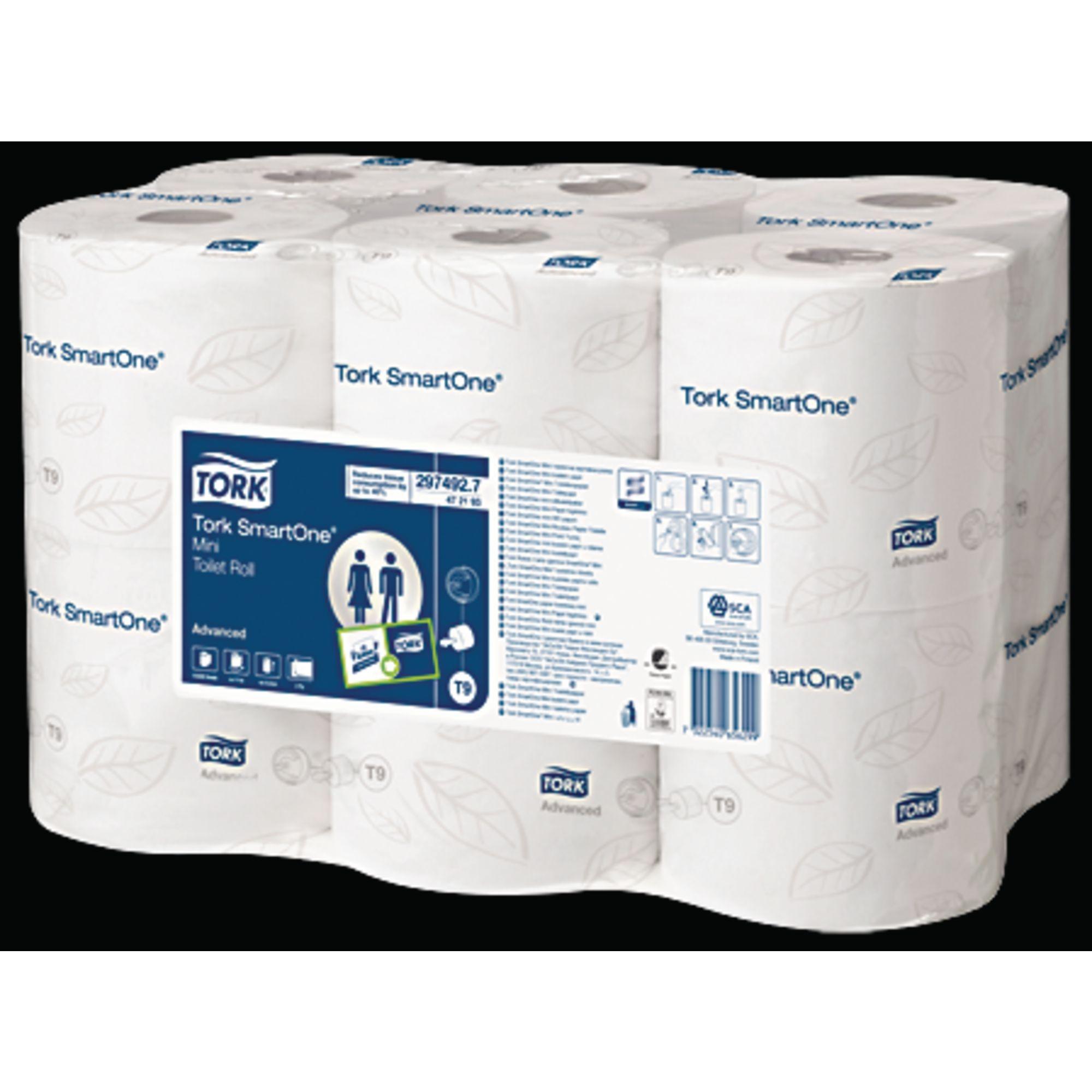 Tork SmartOne Mini Toilet Roll 2ply White