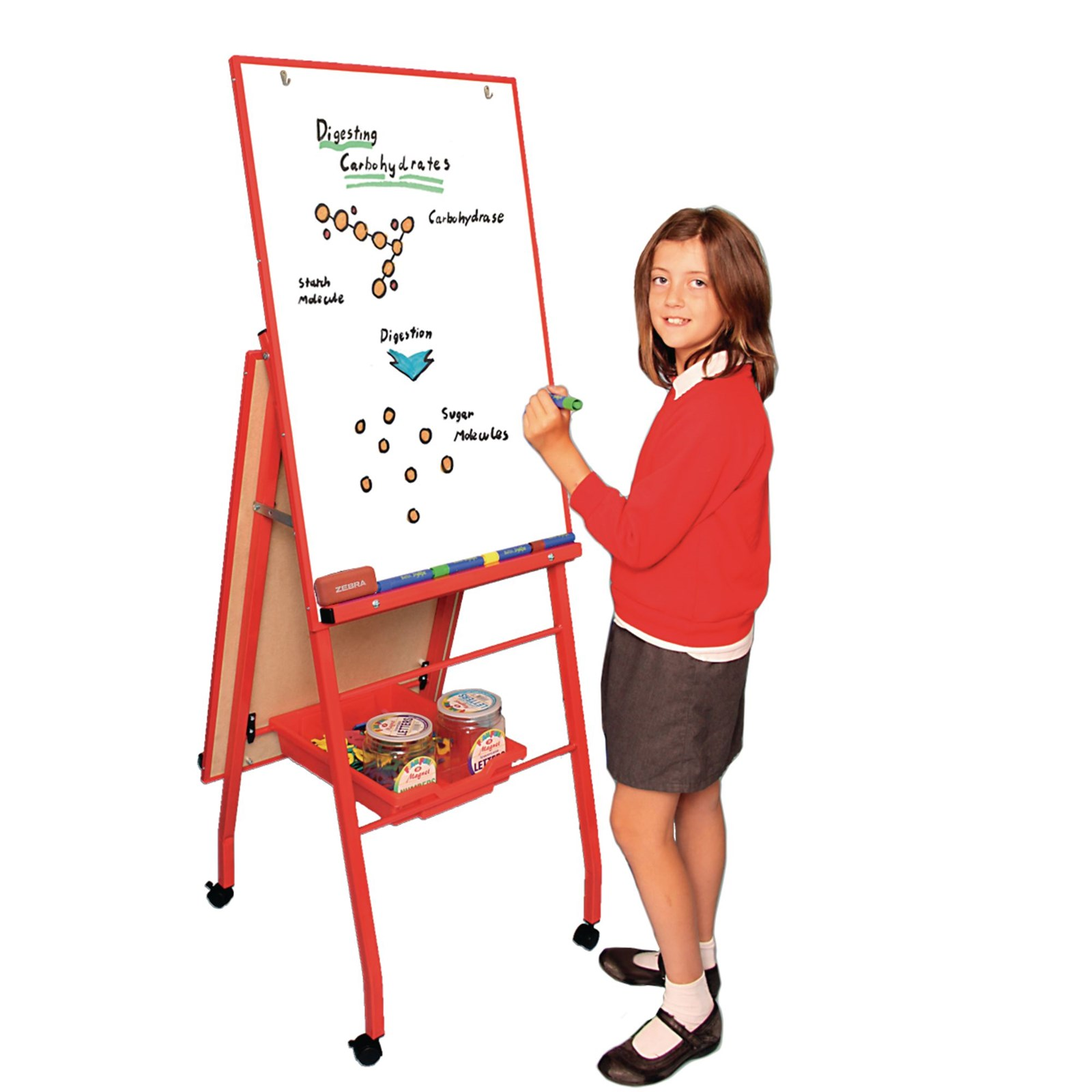 Mobile A- Frame Easel 'Portrait Style' - Red