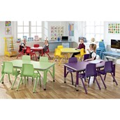 Small Rectangular Table and 4 Chairs Bundle