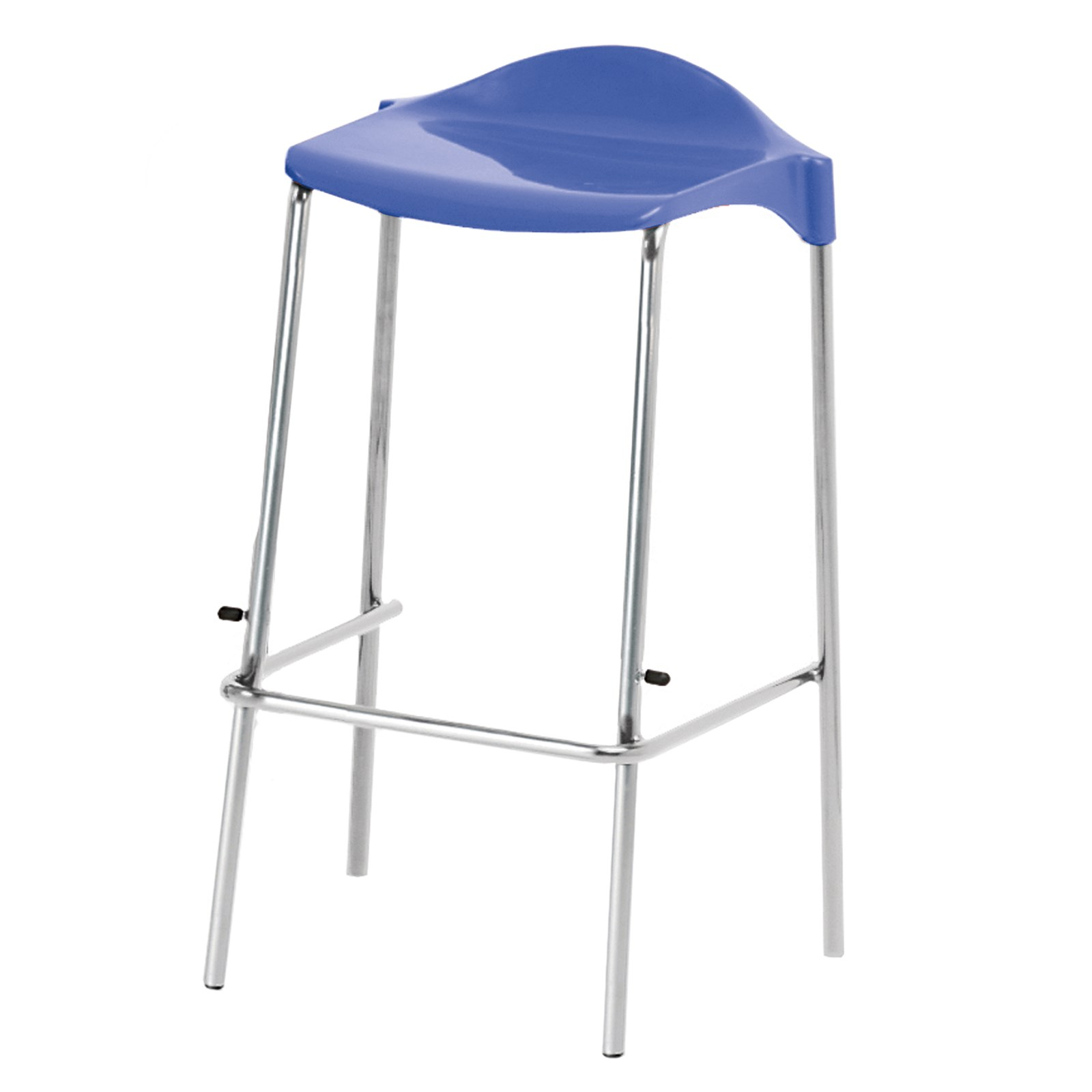 wsm four legged stool seat height 445mm blue hope education