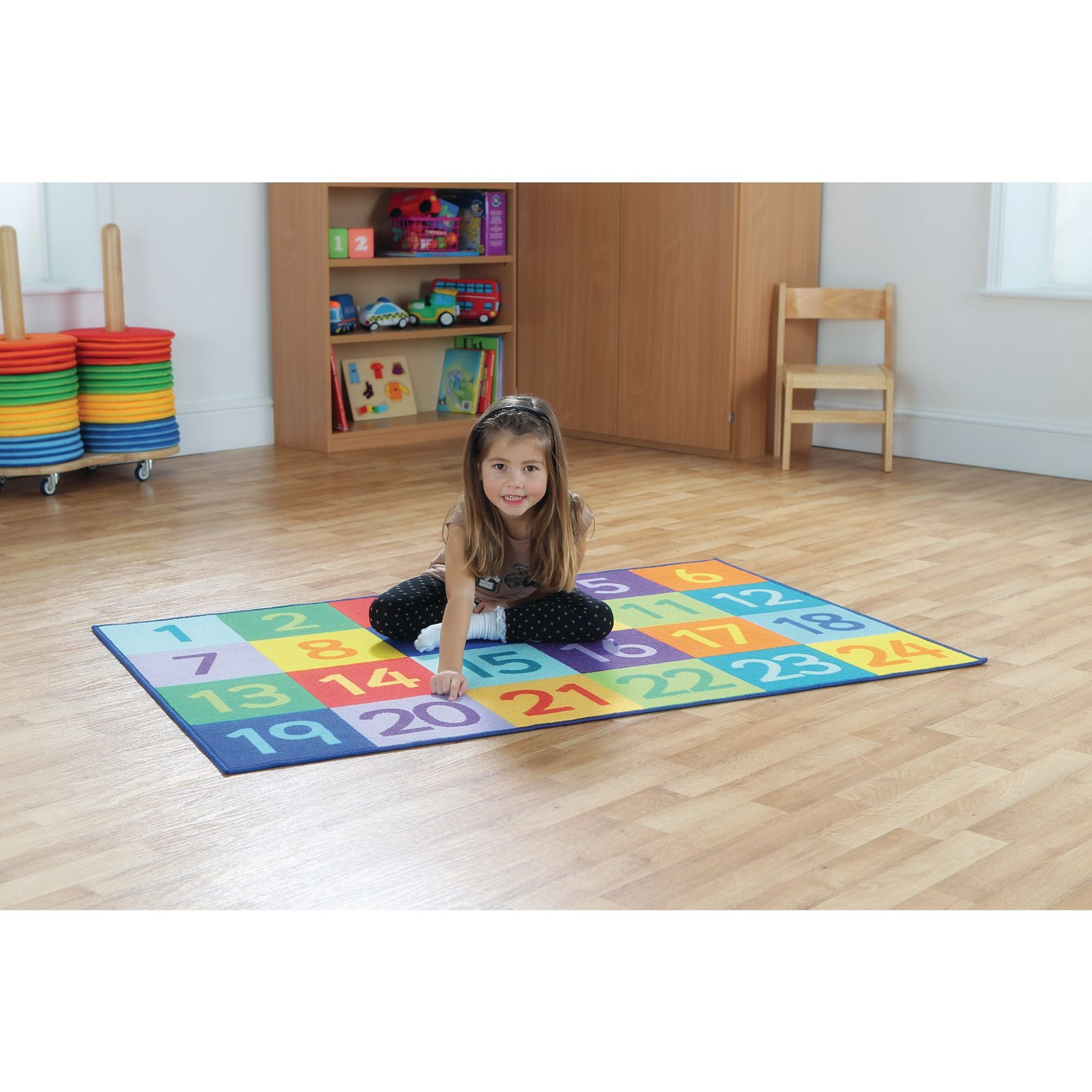 Rainbow 1 to 24 Numbers Mat