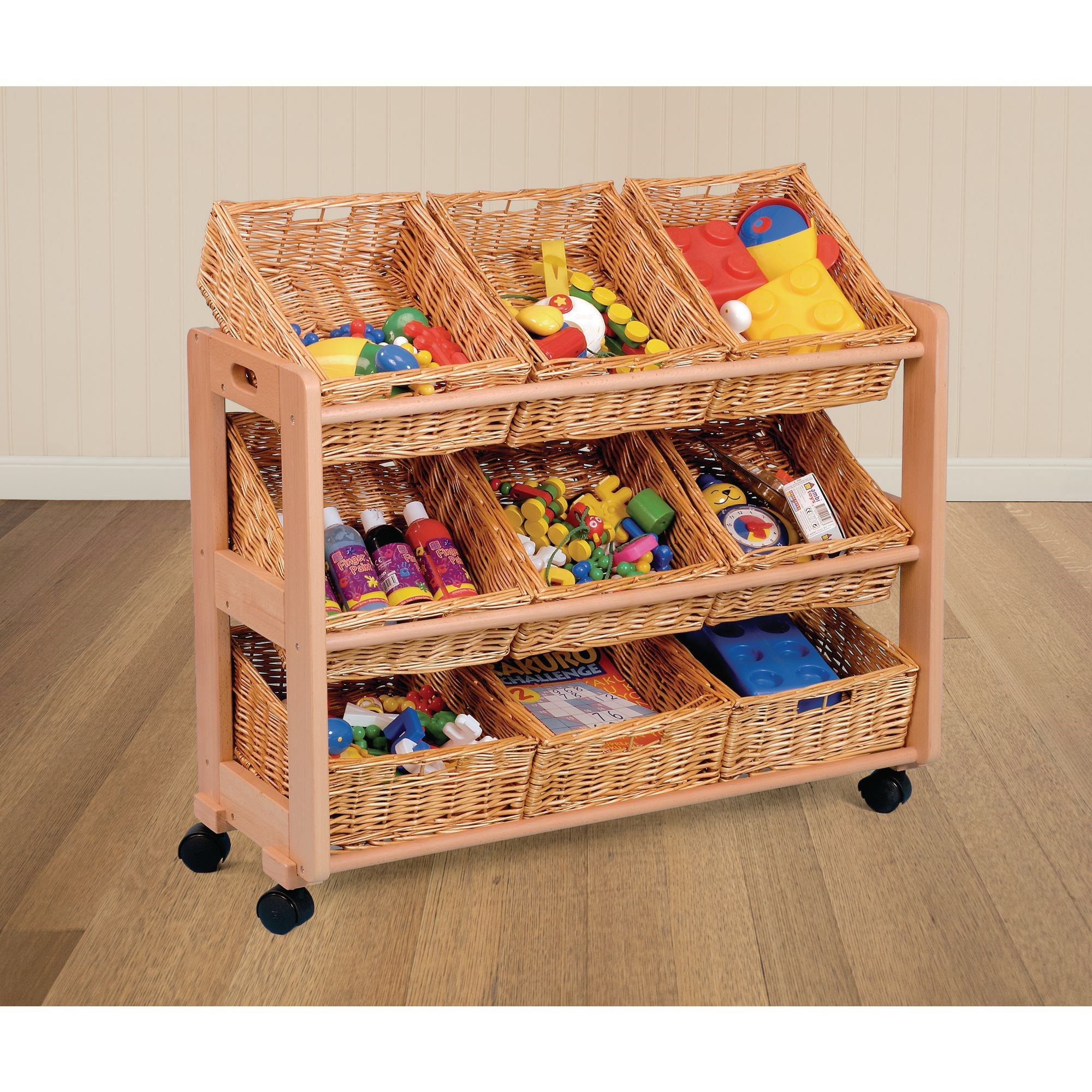 Single Wicker Tidy 9 Trays