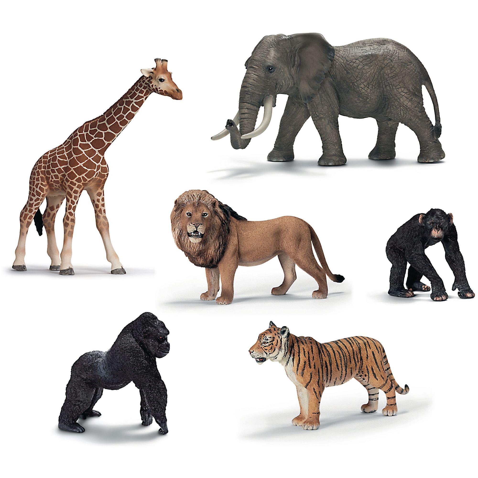 Schleich 174 Jungle Animals Pack Of 6 Findel International