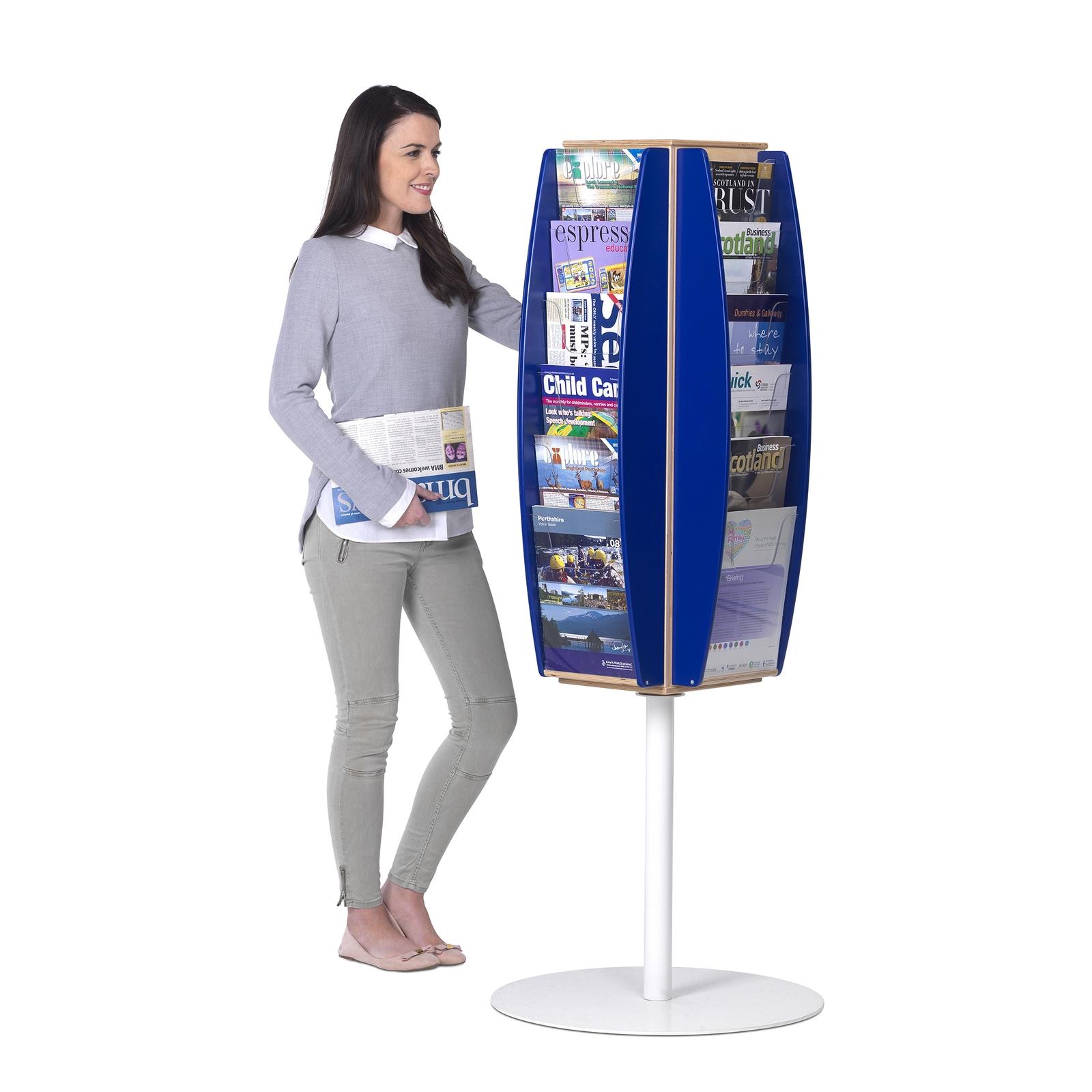 Freestanding Leaflet Dispensers 24xA4 - Orange