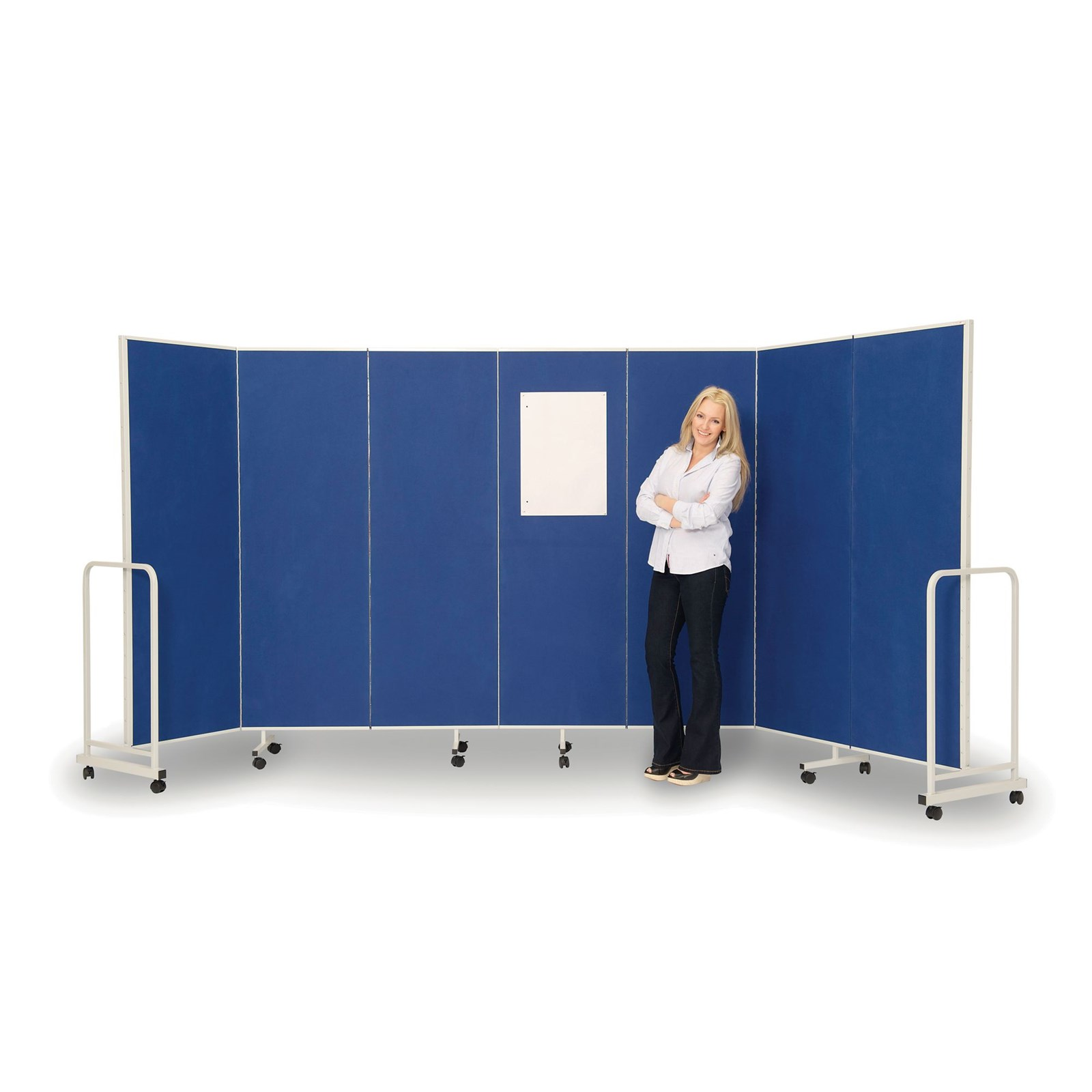 Sound Absorbing Mobile Partitioning - Blue