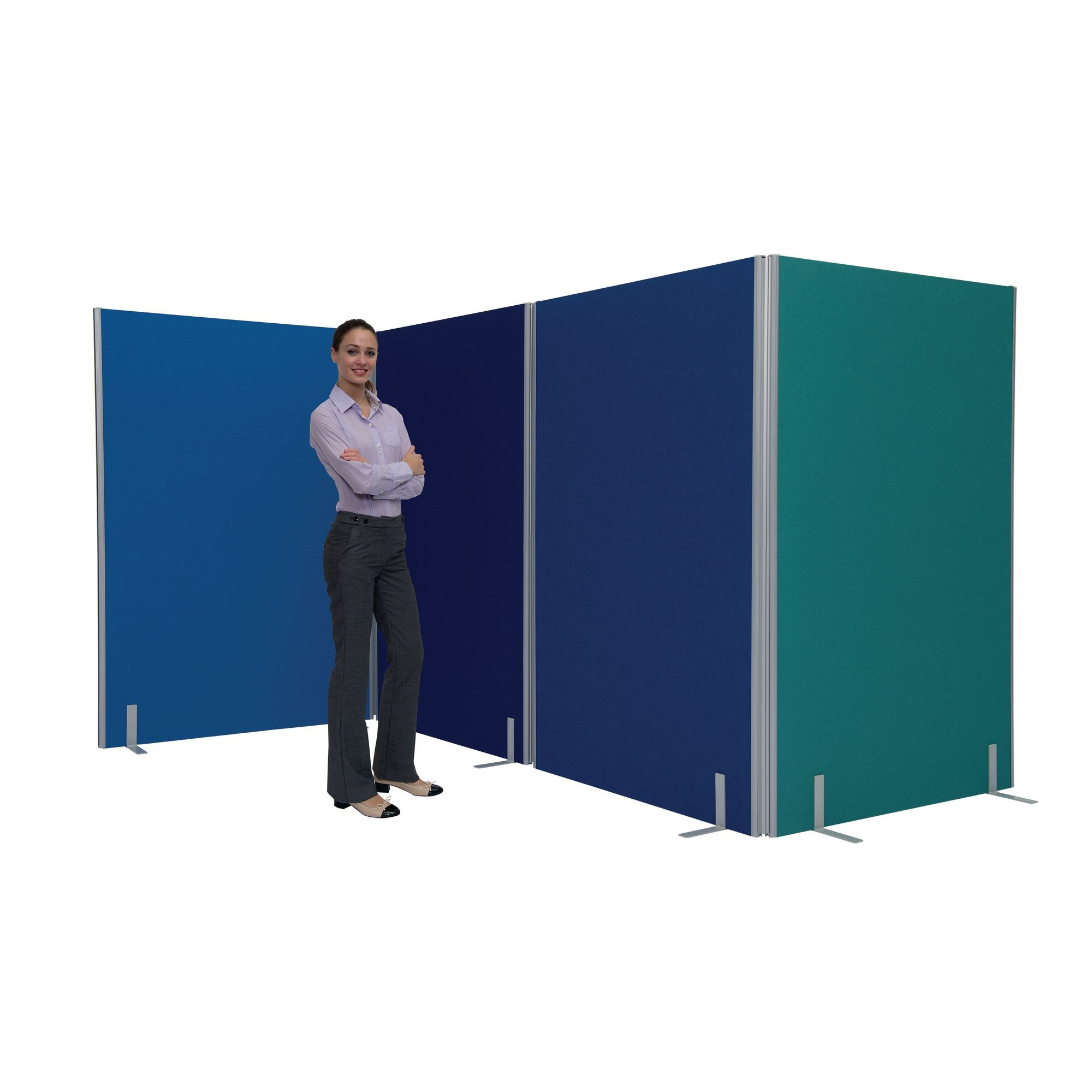 Space Dividers 30mm Partitions - Mobile Foot Plate