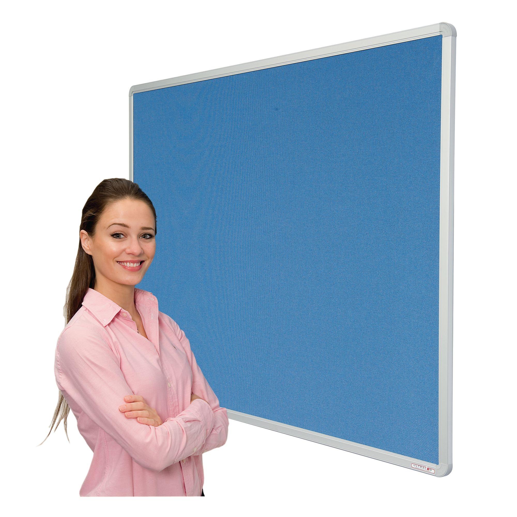ColourTex Aluminium Frame FlameSheild Noticeboard18x12Turq
