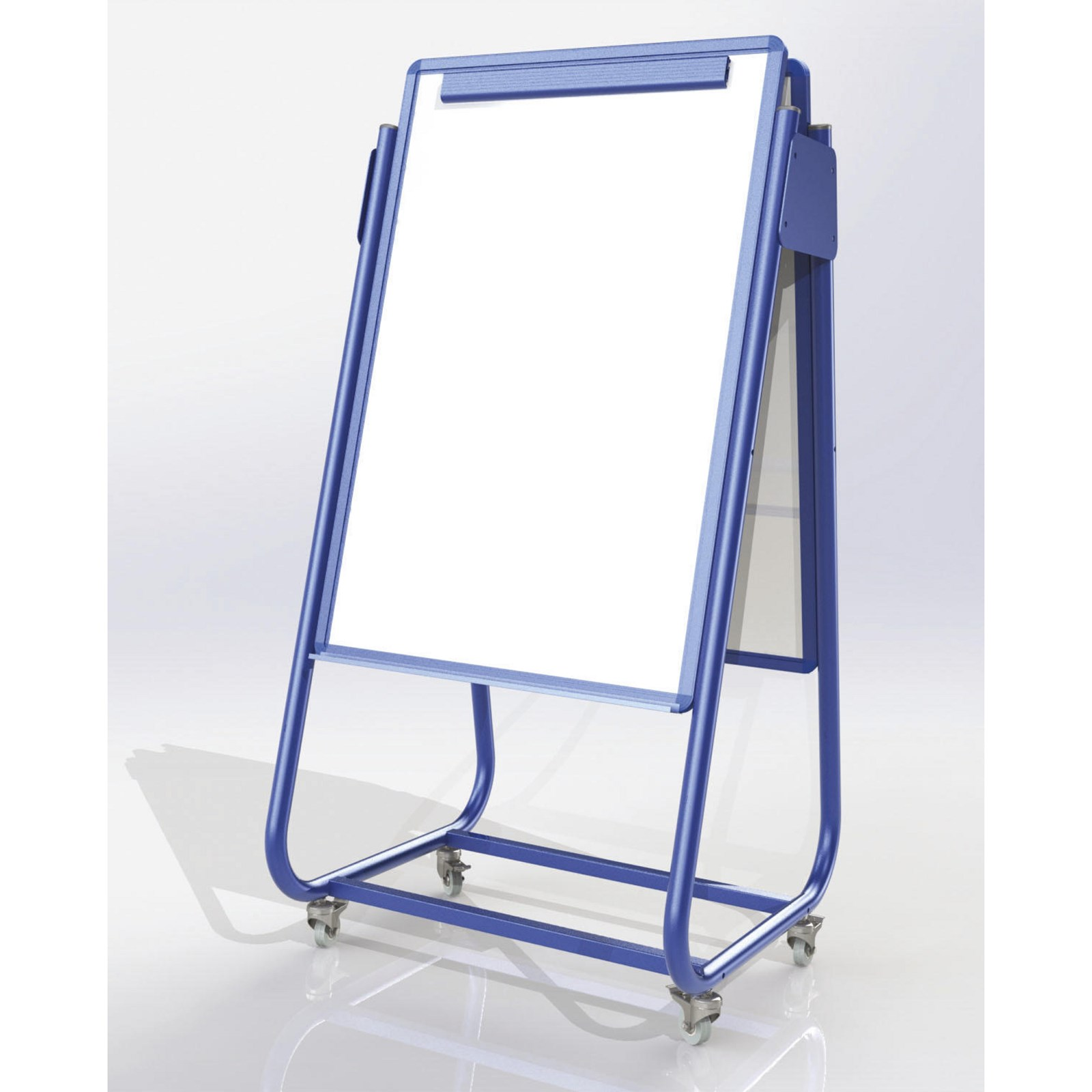 Mobile Magnetic Display Easel Double Sided - Blue
