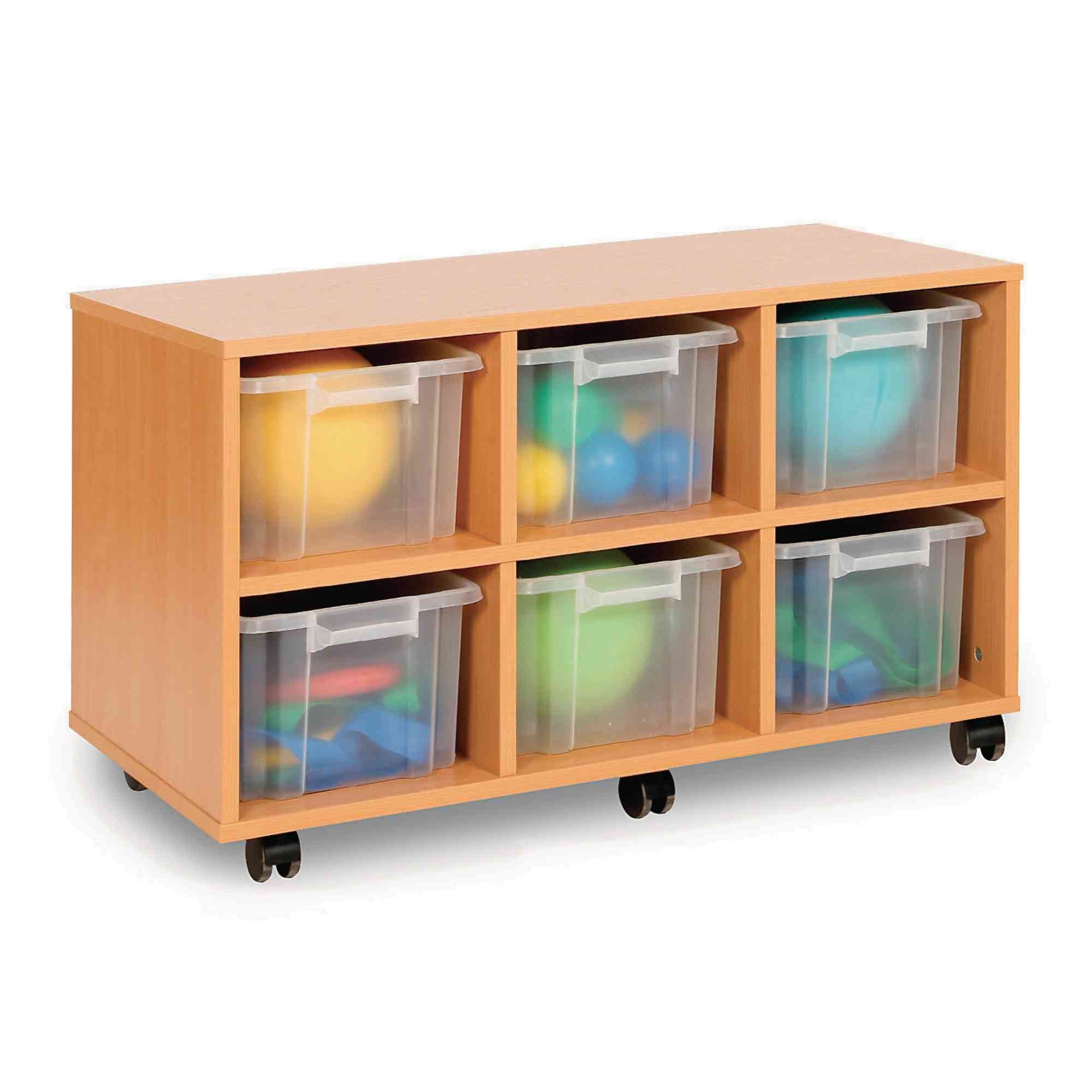 Triple Unit 6 Tray- Clear Mobile