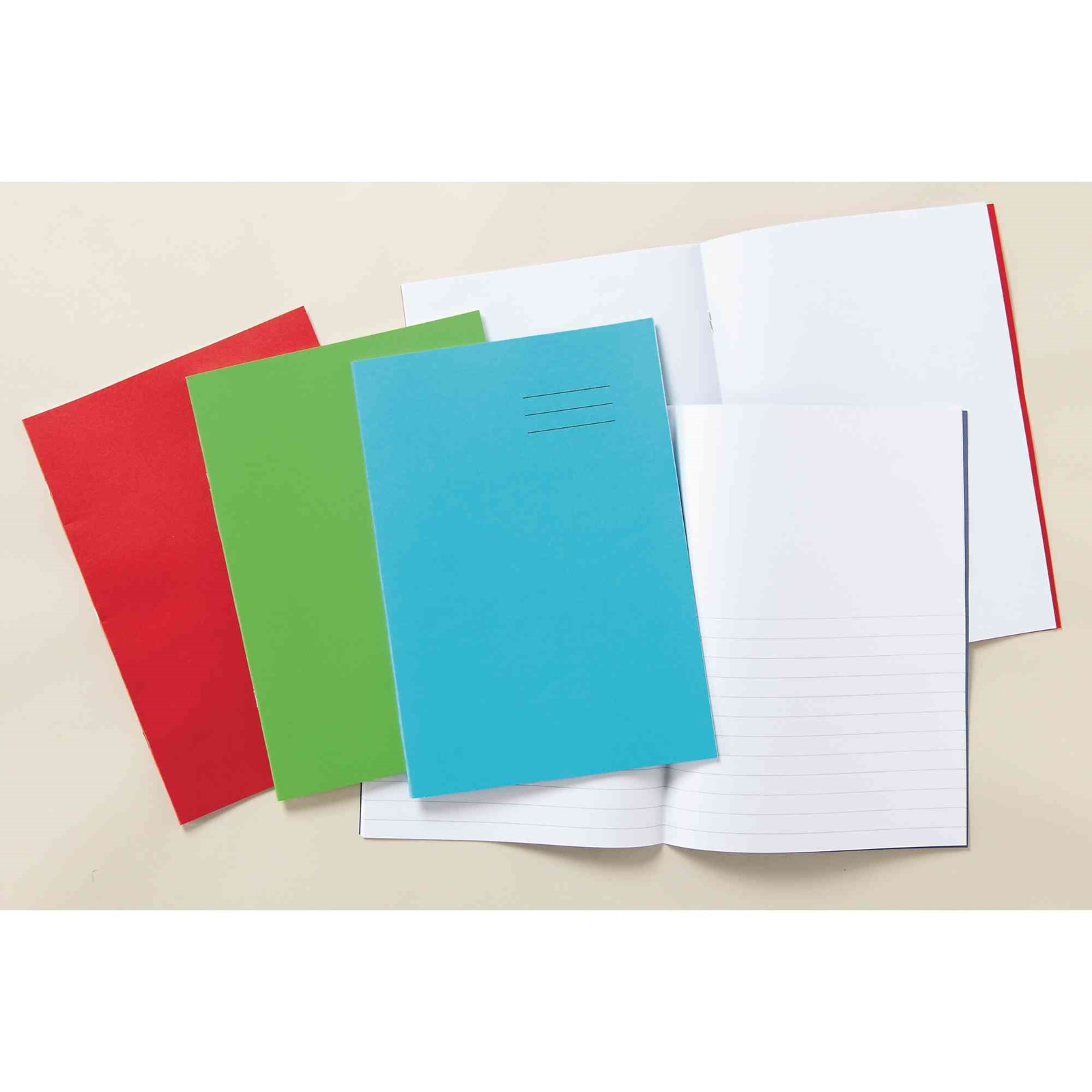 """Vivid Blue 8x6.5"""" Exercise Book 32-Page, 10mm Squared - Pack of 100"""