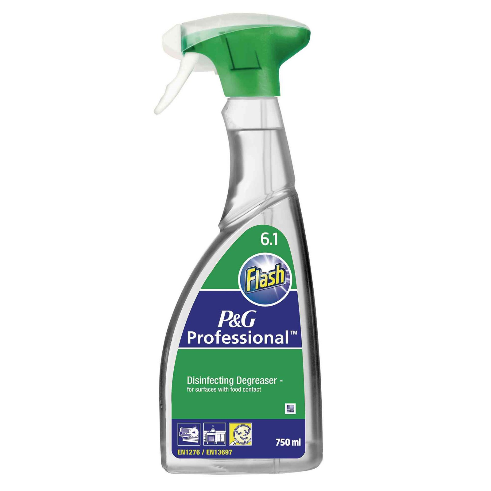 P & G Professional Flash Disinfecting Degreaser - 6 x 750ml