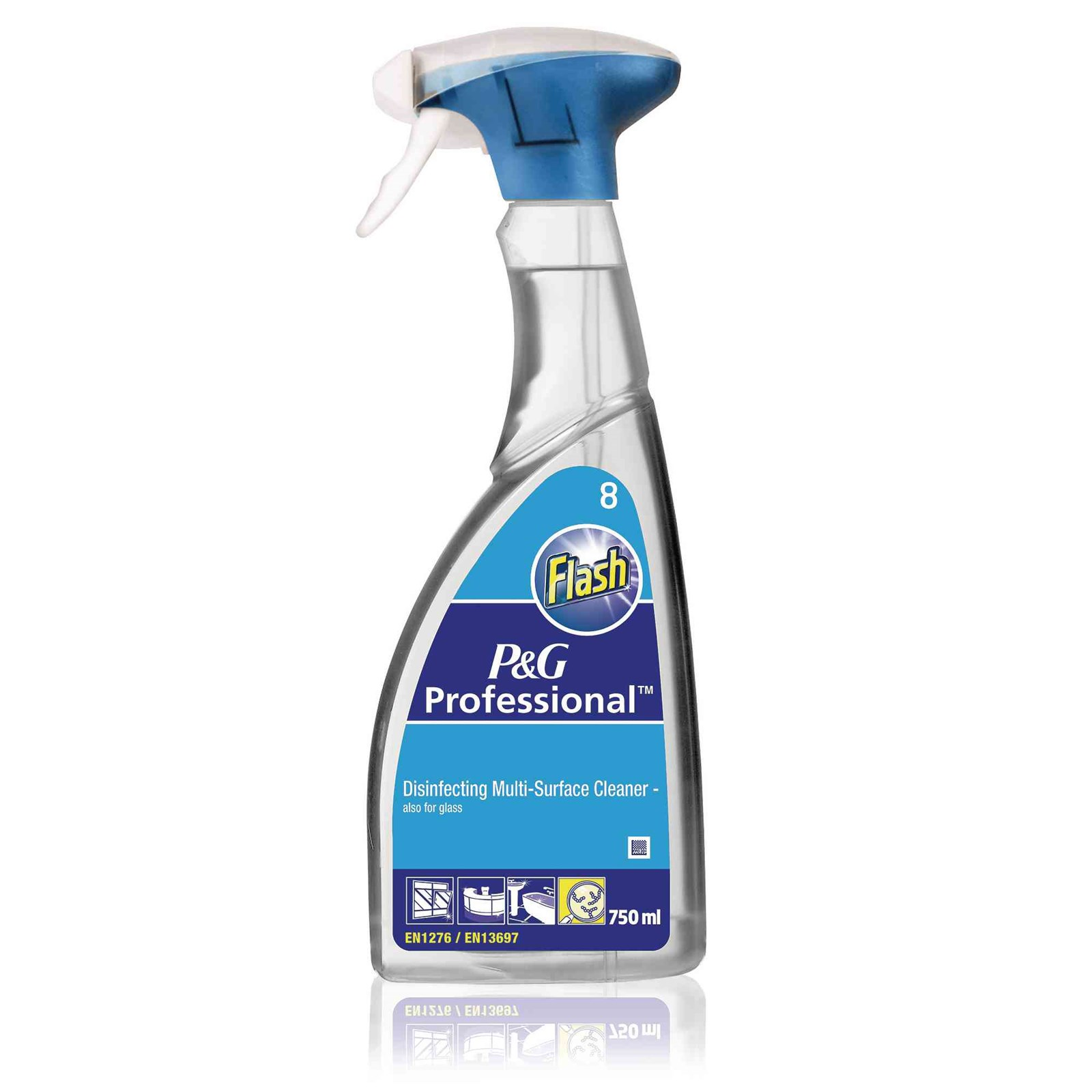 Flash Disinfecting Multi-Surface and Glass Cleaner - 6 x 750ml