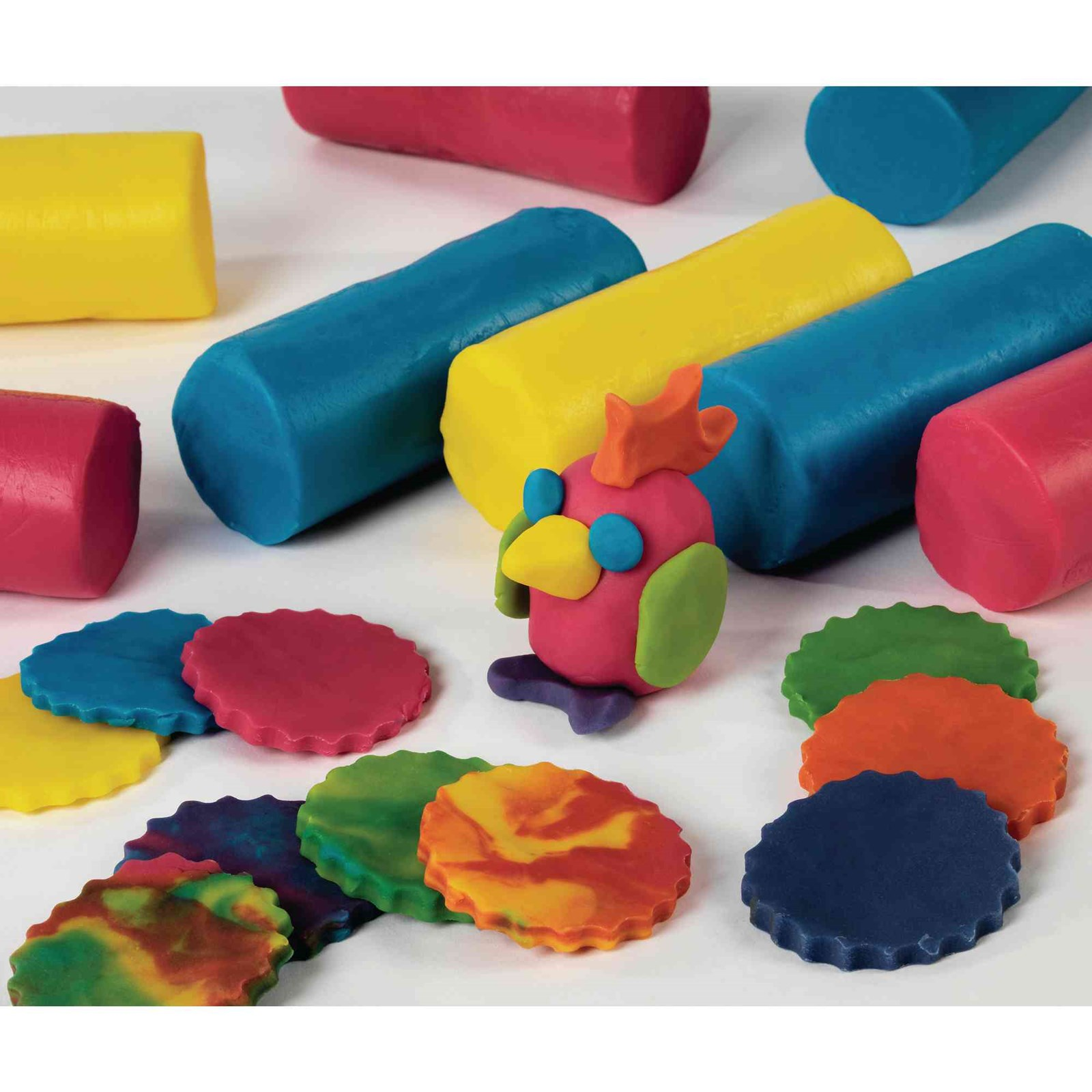 Colour Mixing Soft Dough - Pack of 6