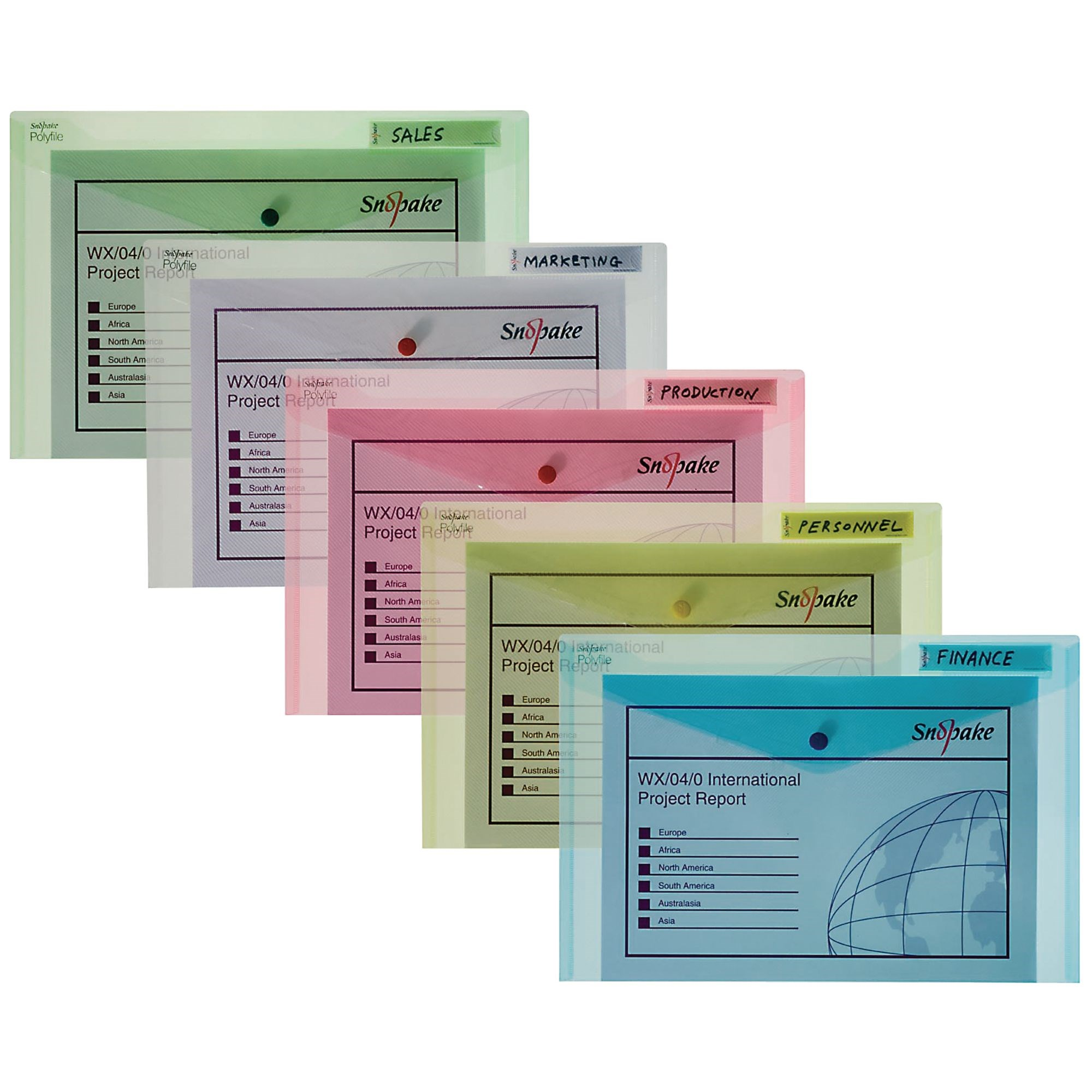 Classic Polyfiles Foolscap Assorted Pk1
