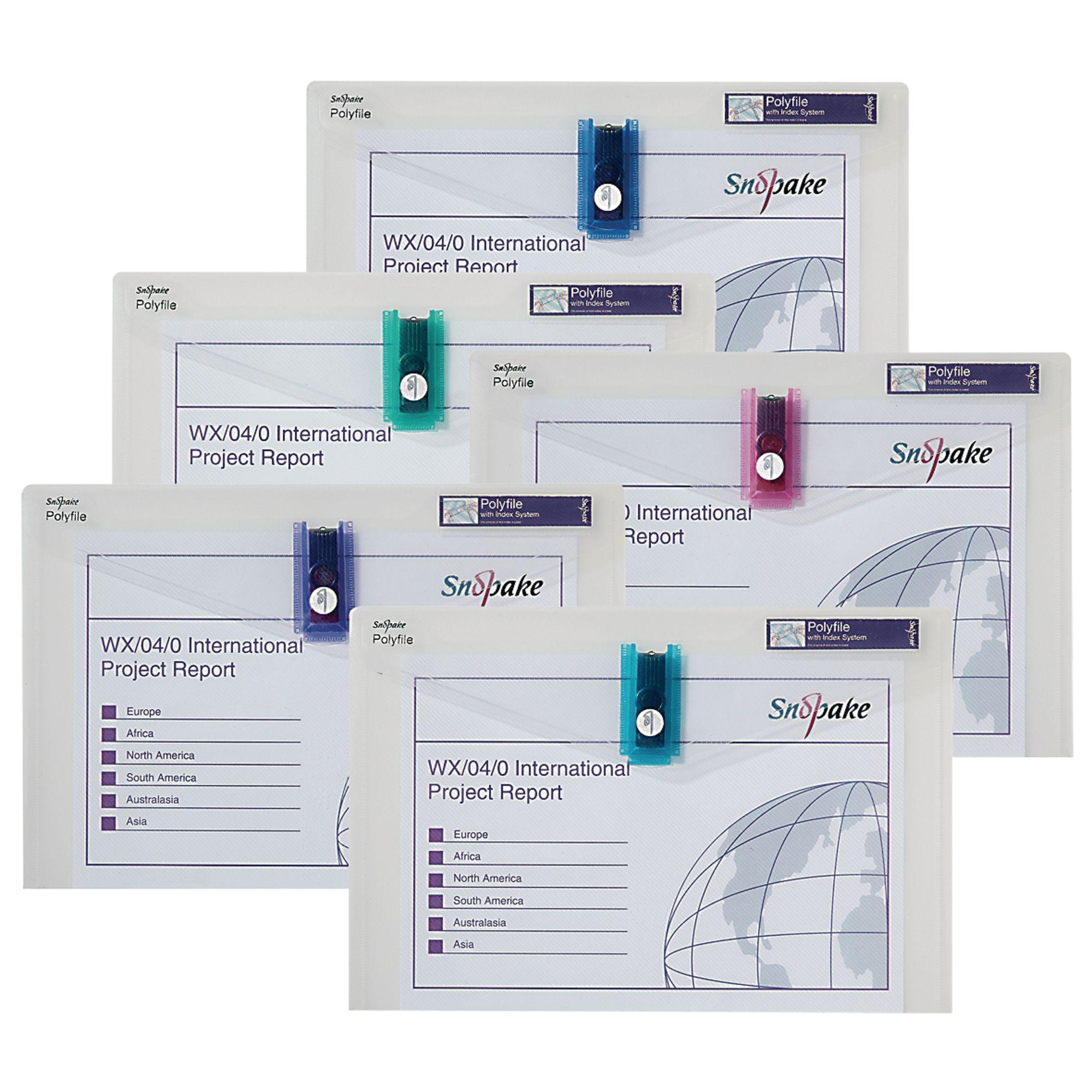 Snopake Polyfile USB Foolscap Pk1