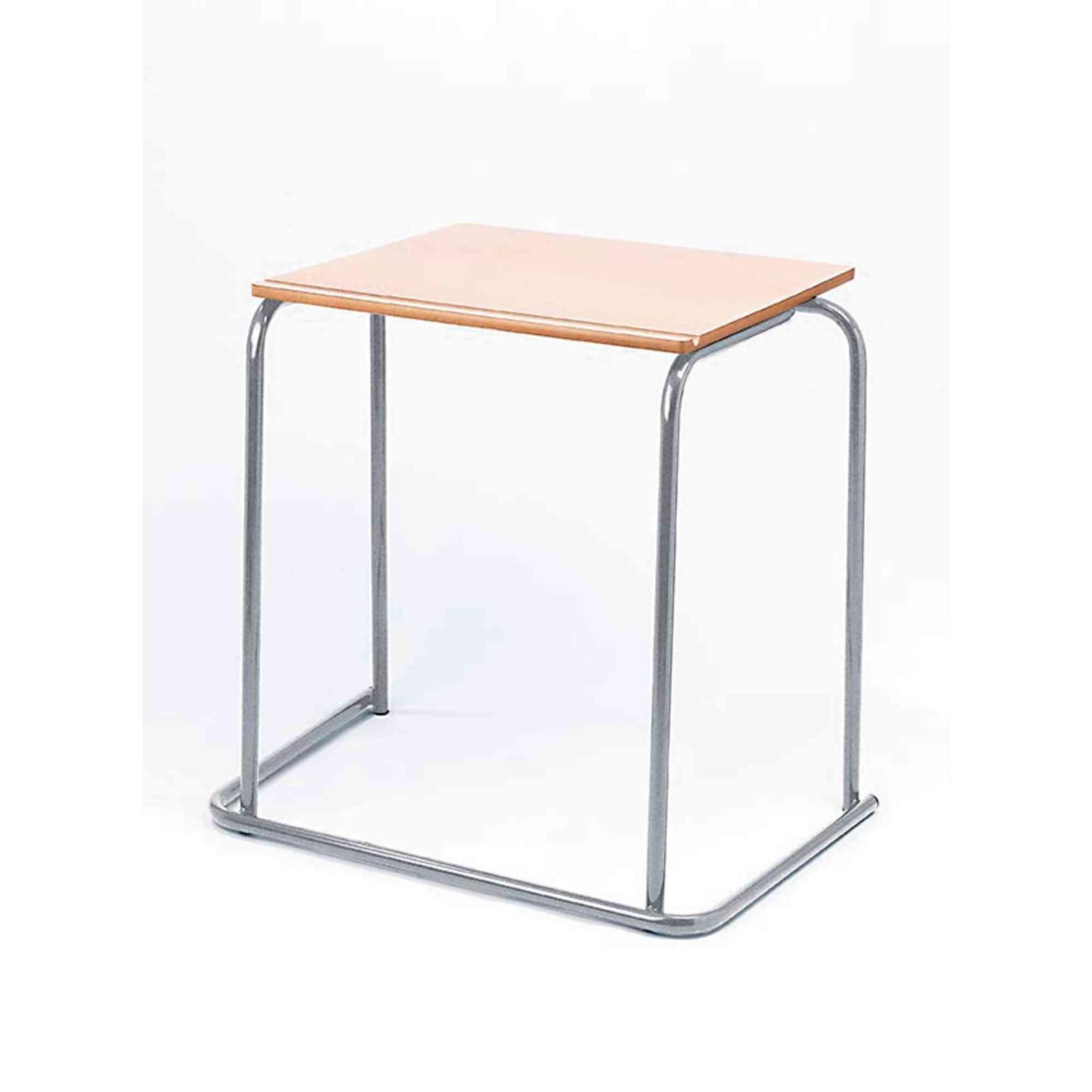 Classmates Rectangular Steel Exam Desk - 600 x 500 x 710mm - Beech