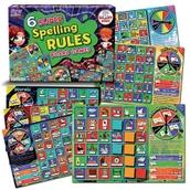 6 Super Spelling Rules Board Games
