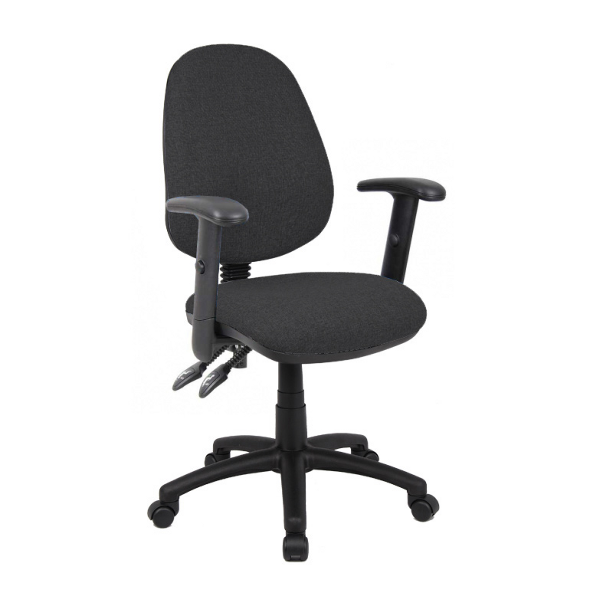Operator Chair Adjustable Arms - Charcoal