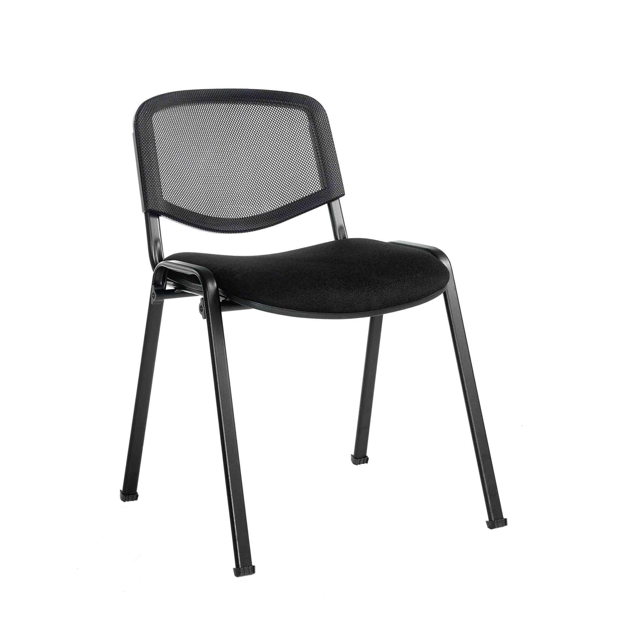 Classmates ISO Mesh Visitor Chair Black Frame Blue