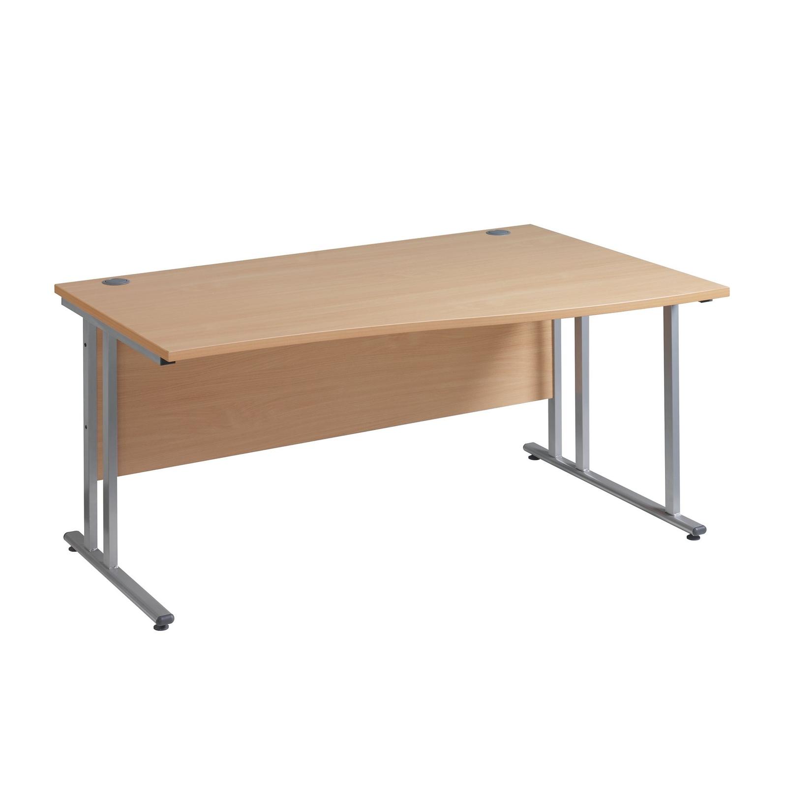 CM Wave Desk W1400mm Left Walnut