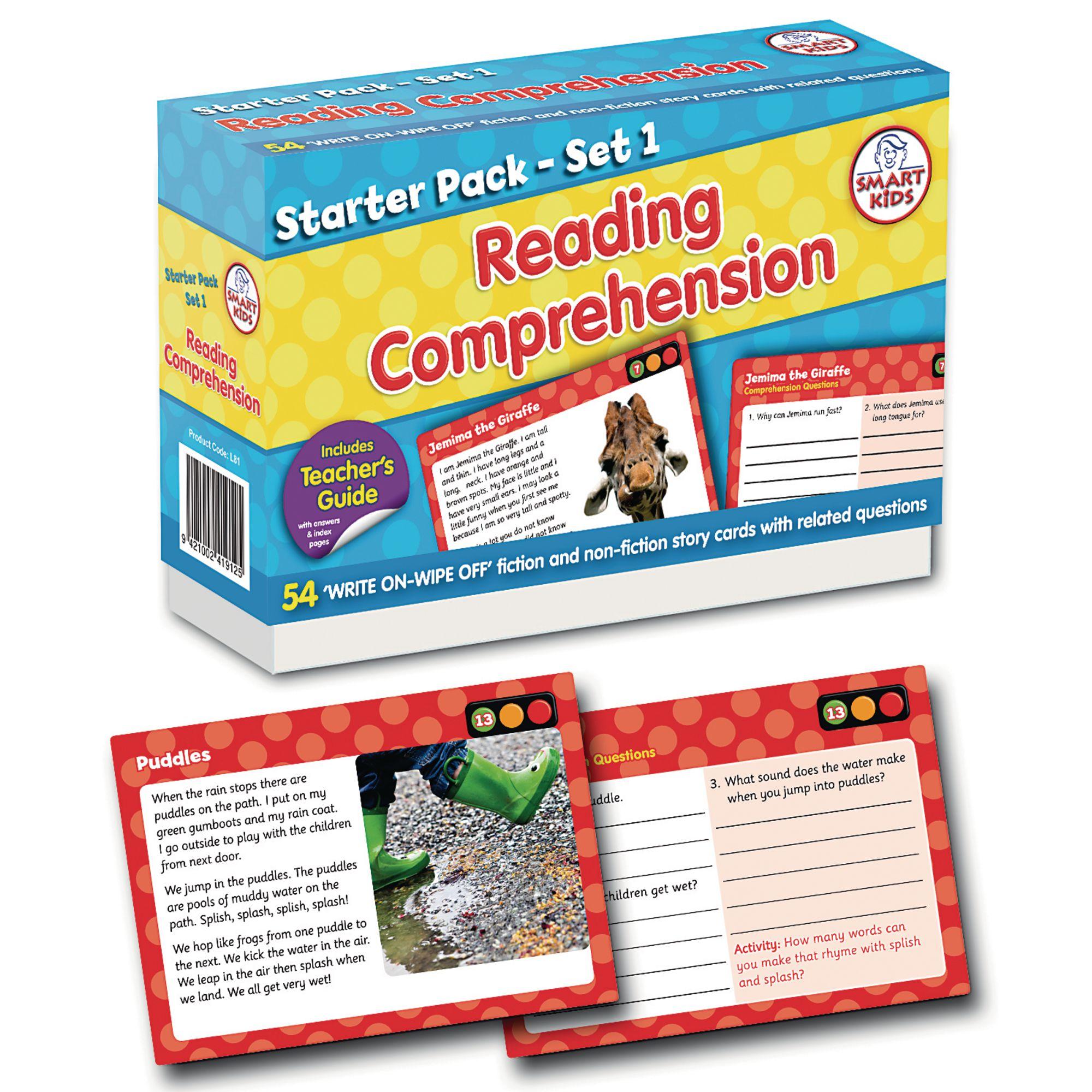 Reading Comprehension Starter Pack Set 1 - Pack of 54