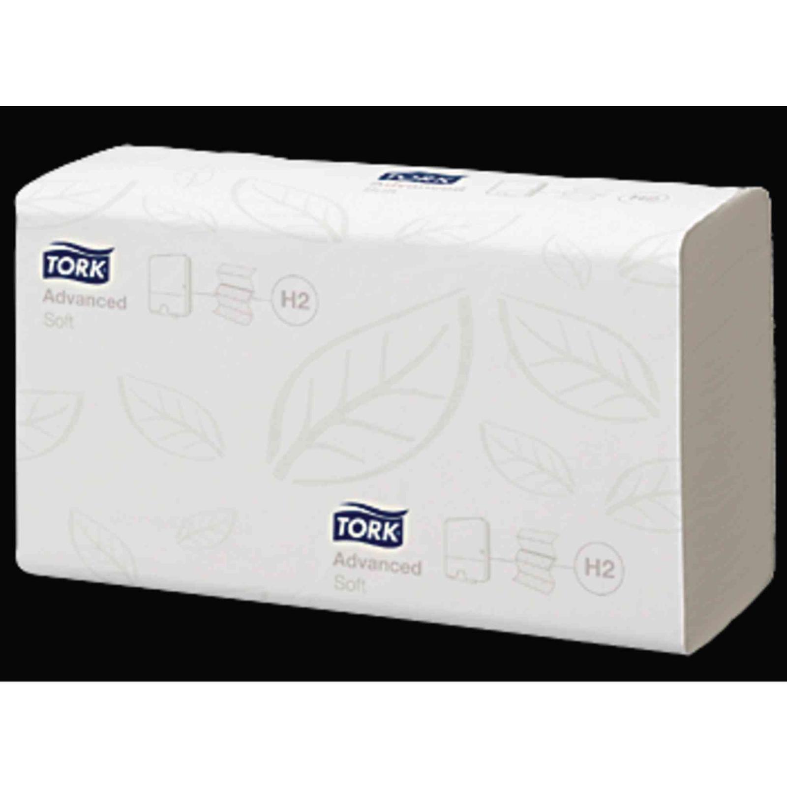 Tork® Single Fold Hand Towel 2- Ply White - Case of 15