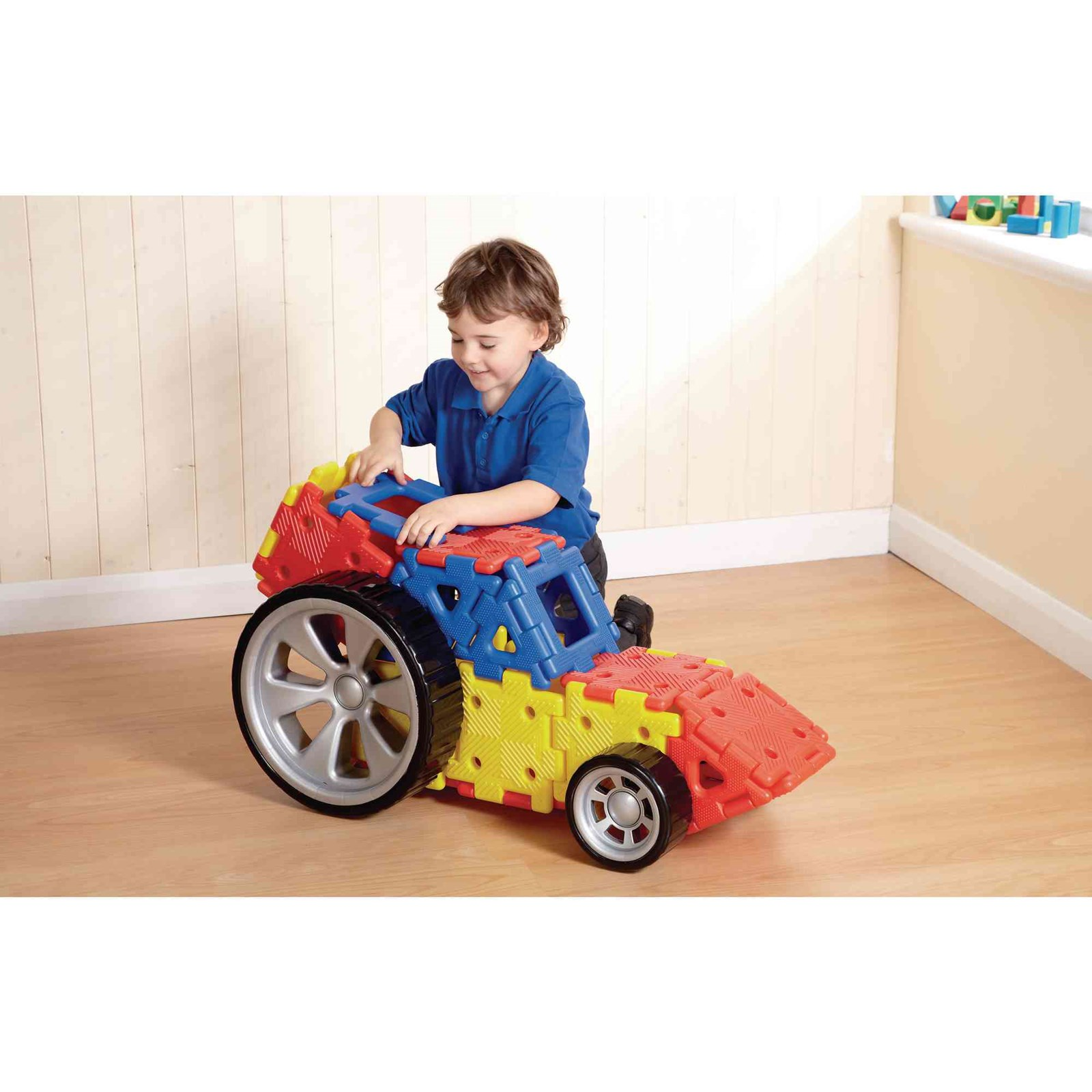 Giant Polydron Vehicle Set - Pack of 32