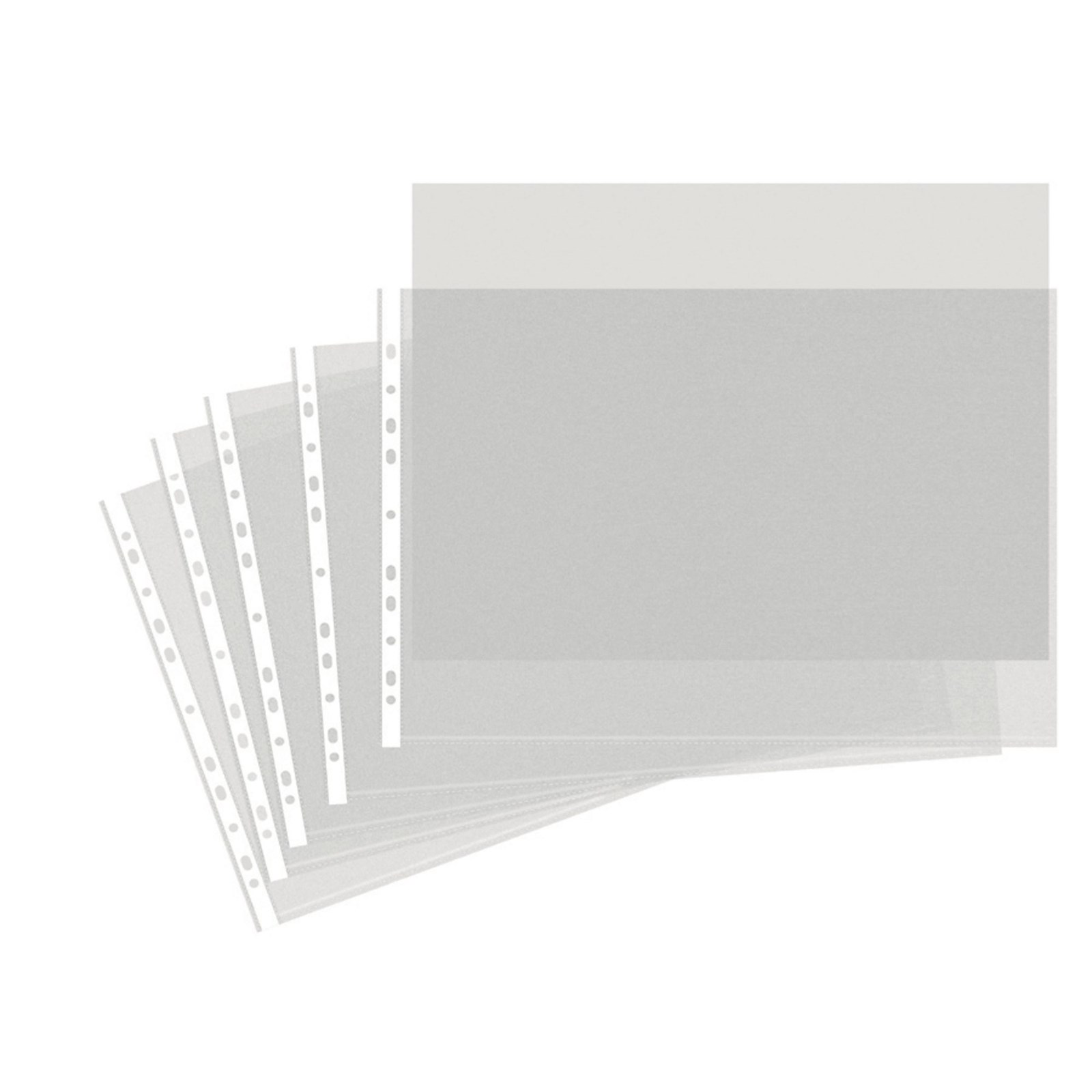 Heavy Duty Punched Pocket A3 Clear - Pack of 50