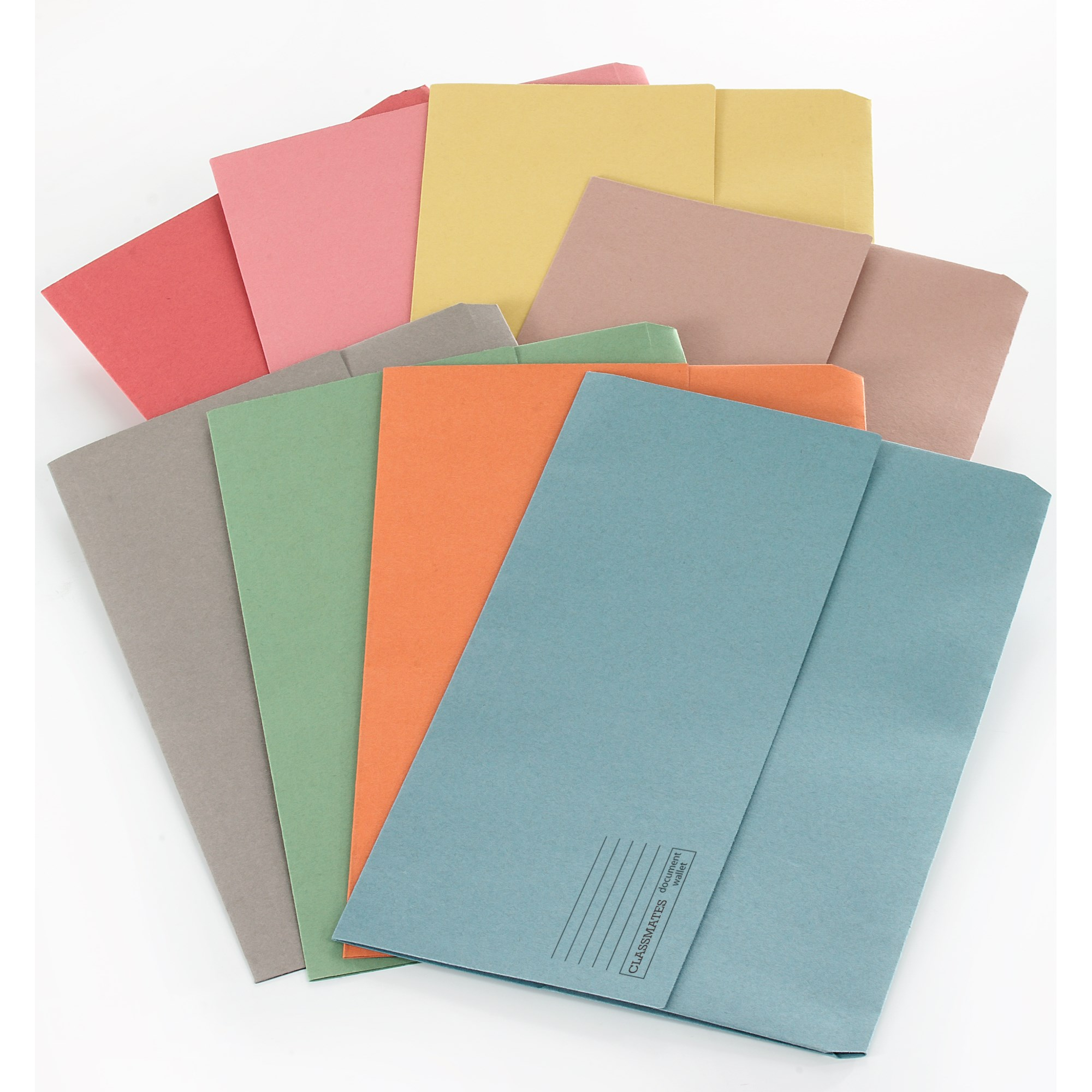 Classmates Document Wallet Foolscap - Pink - Pack of 50