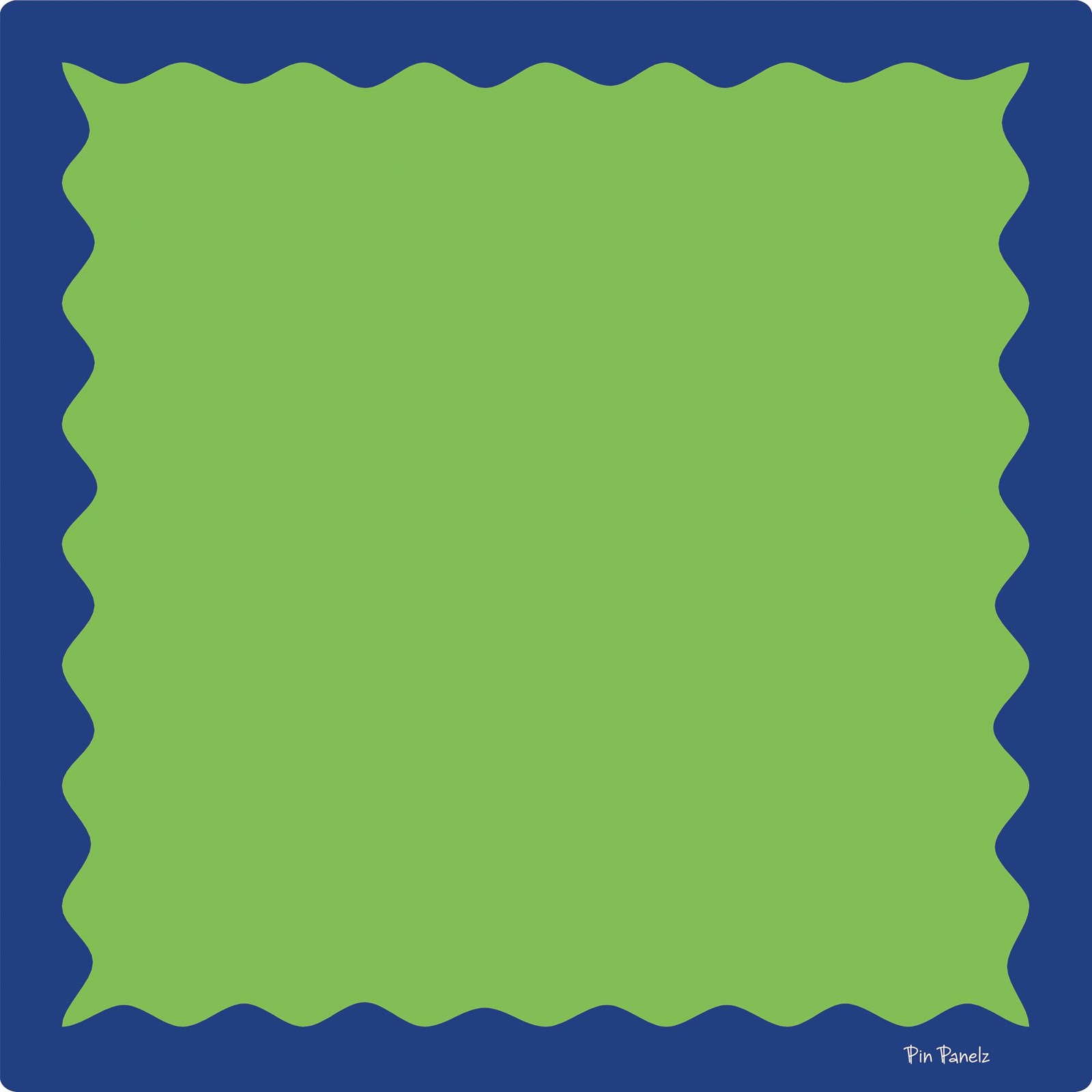 Funky Pin Panelz Navy/Green - W900 x H900mm