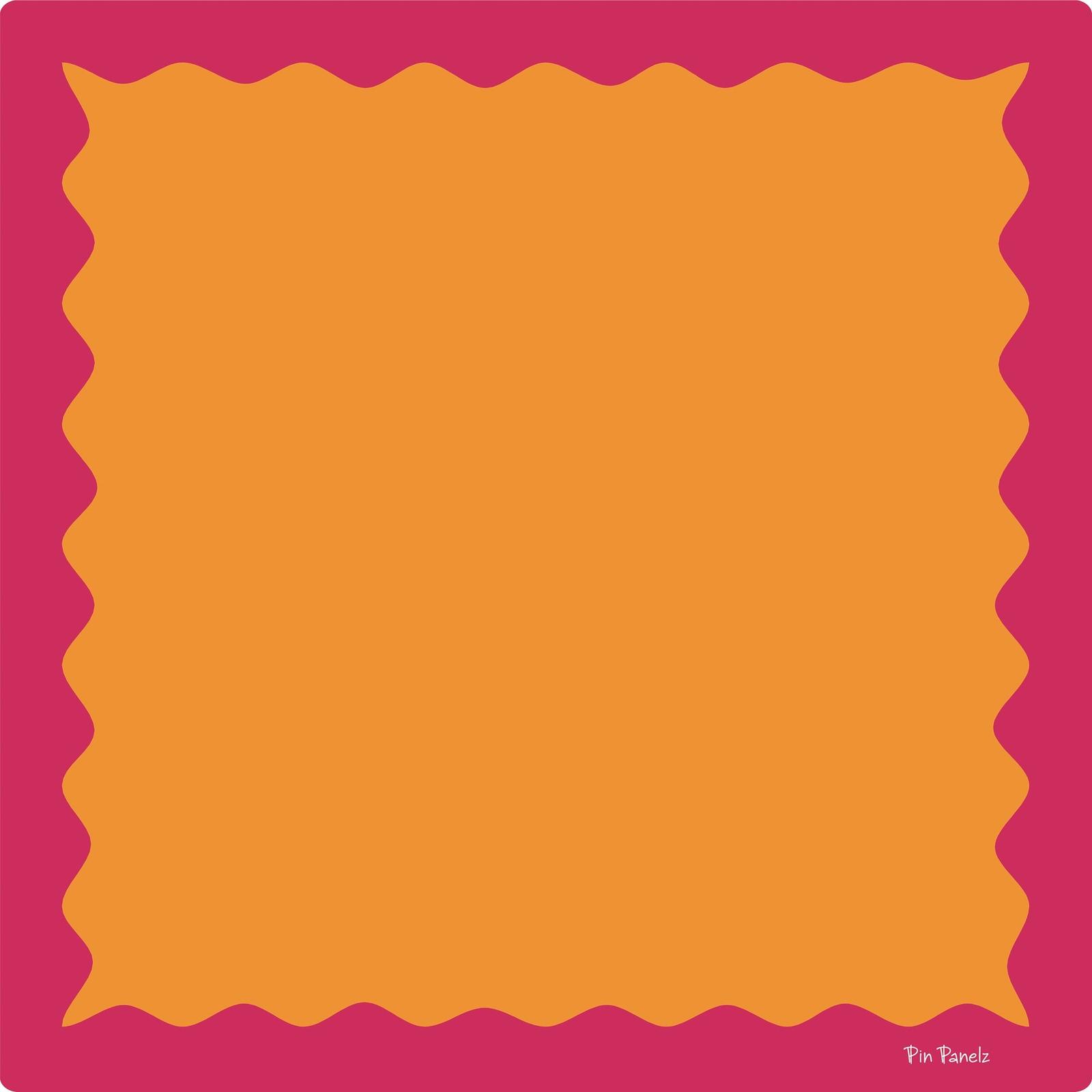 Funky Pin Panelz Pink/Orange - W1200 x H1200mm
