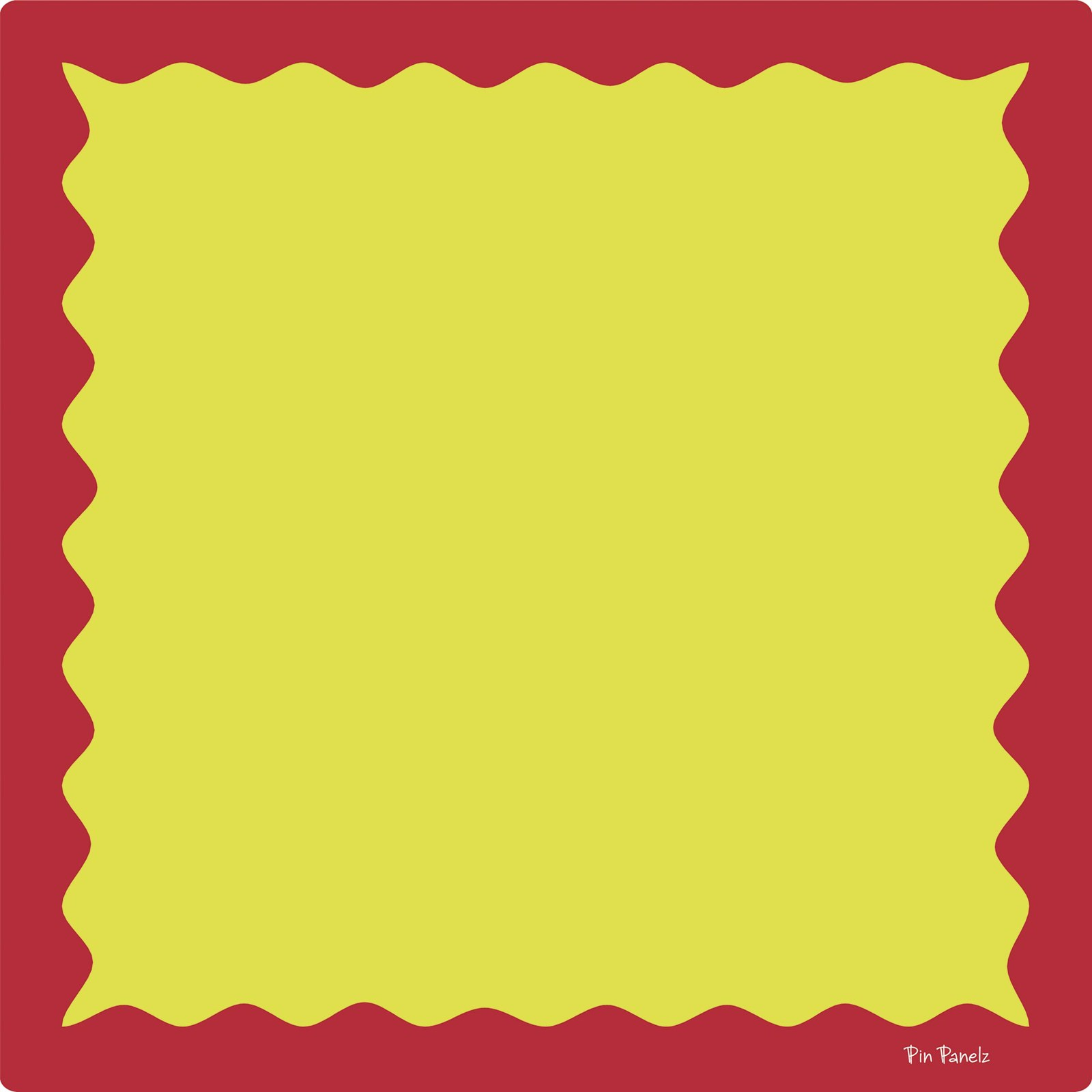 Funky Pin Panelz Red/Yellow - W1200 x H1200mm