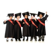 Graduation Gowns - Black - 3-5 Years