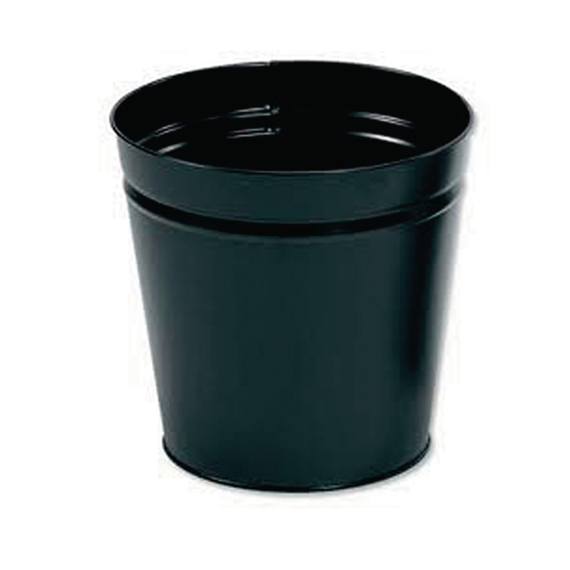Metal Waste Paper Bin 15L Black