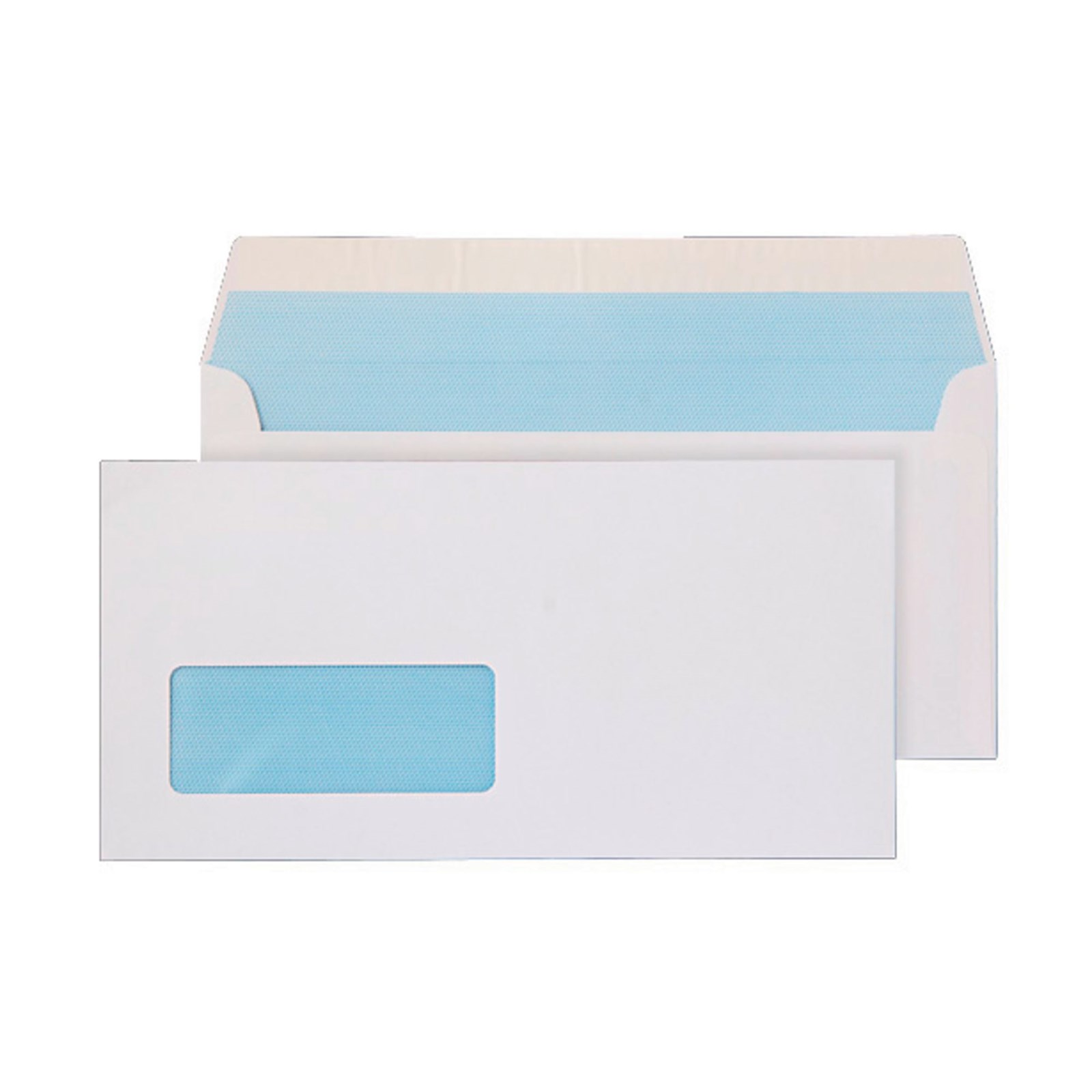 DL White Peel and Seal Wallet Envelopes - Box of 500