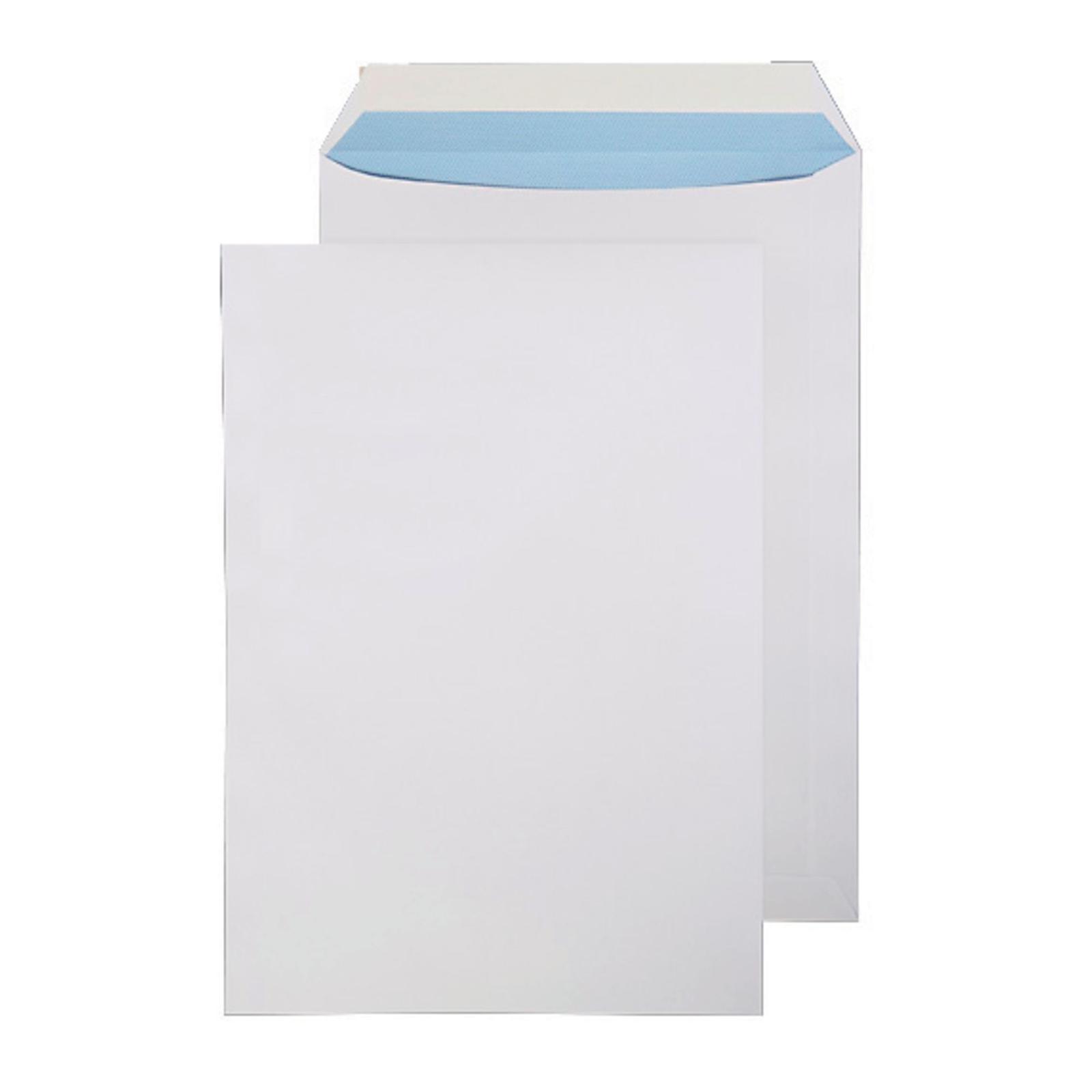 C4 White Peel and Seal Pocket Envelopes - Box of 250