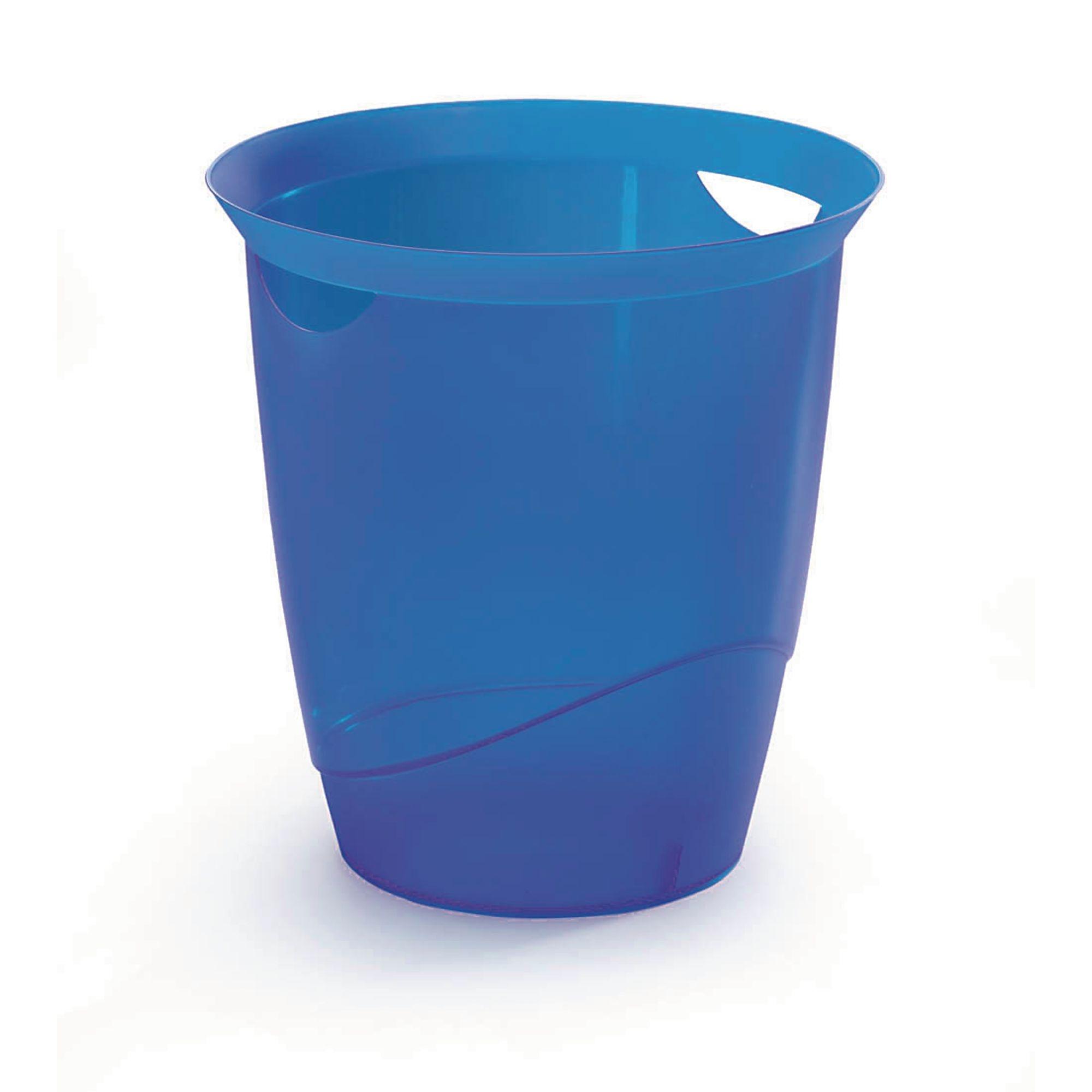 Translucent Waste Bin 16L Dark Blue