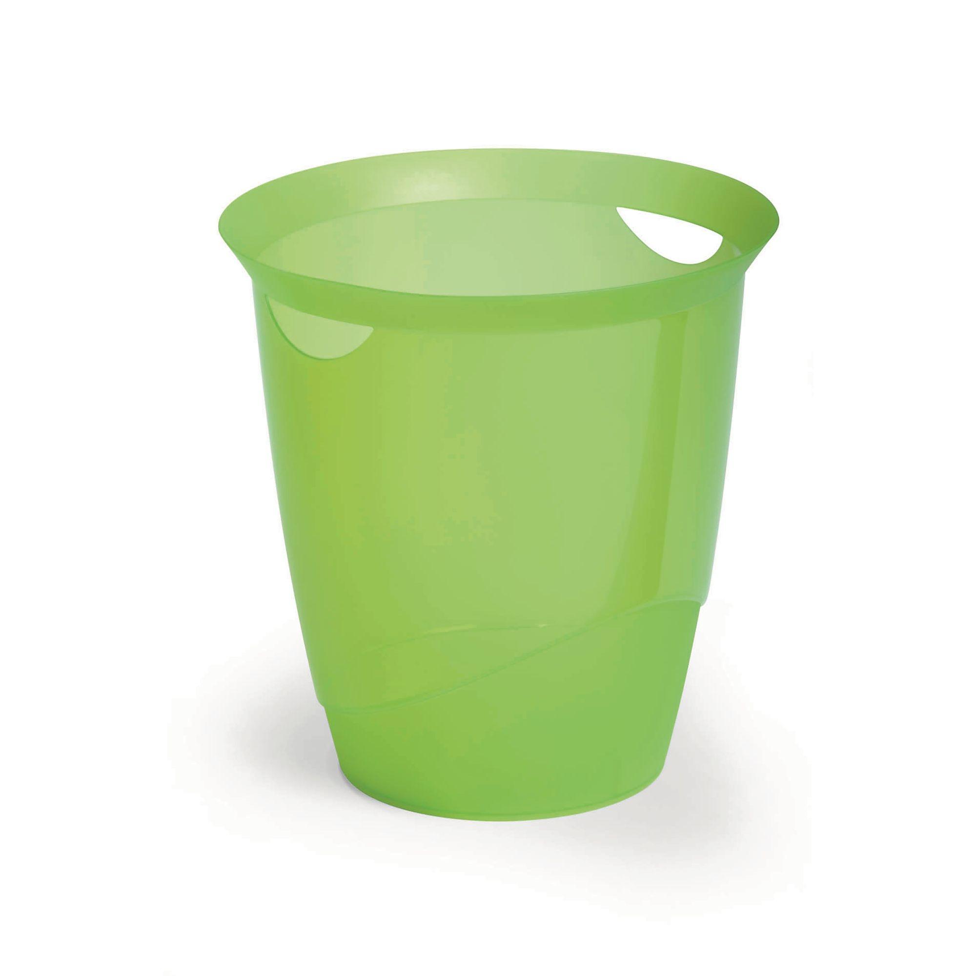 Translucent Waste Bin 16L Green