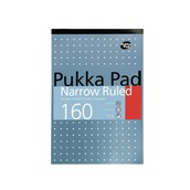 Pukka Pad Metallic Refill Pads - A4 - 160 pages - 6mm Lined, Margin - 4 hole