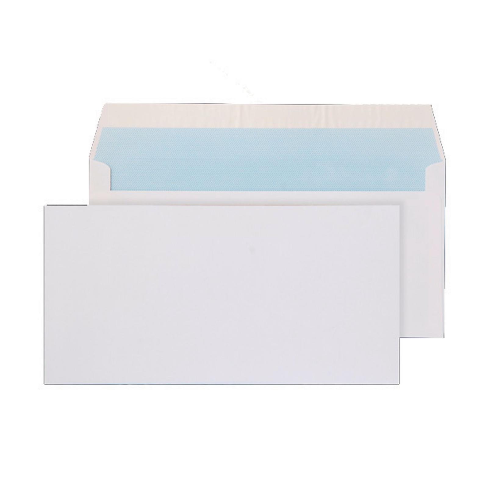 DL White Peel and Seal Pocket Envelopes - Box of 500