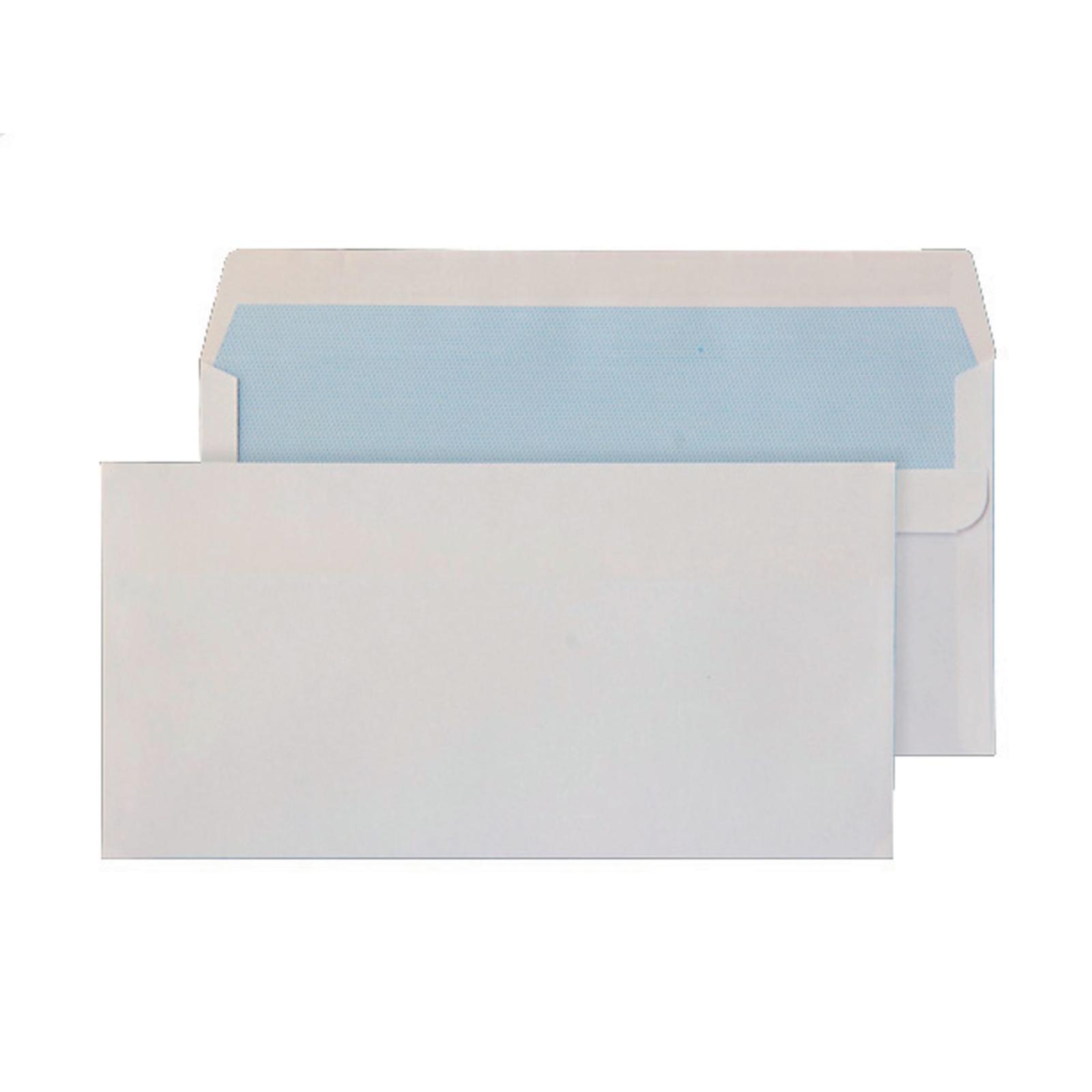 DL White Self Seal Wallet Envelopes - Pack of 50