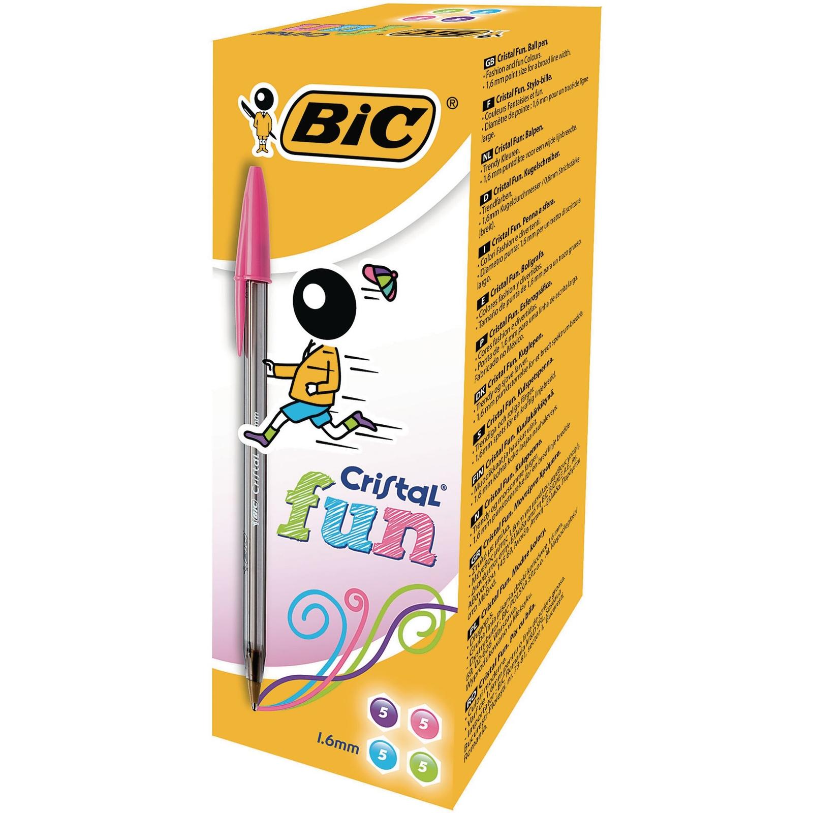 Bic Cristal Fun Ballpoint Pen Assorted - Pack of 20