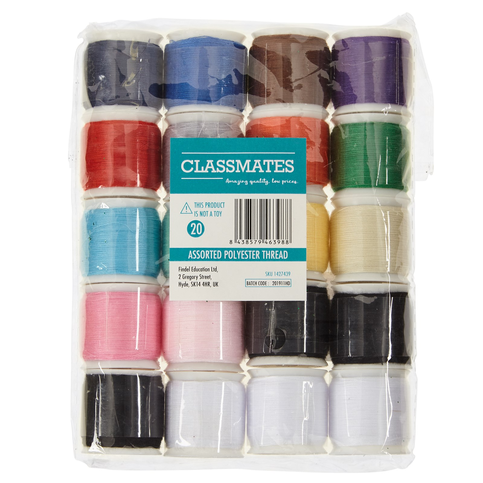 Assorted Polyester Threads Pack of 20