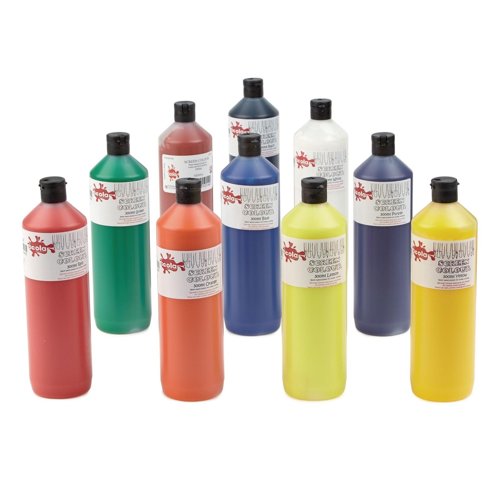 Screen Printing Inks Pack of 10